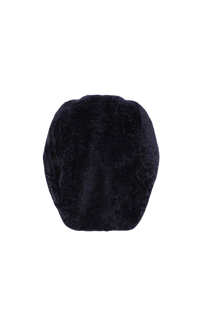 Shearling Cocoon Cape 2