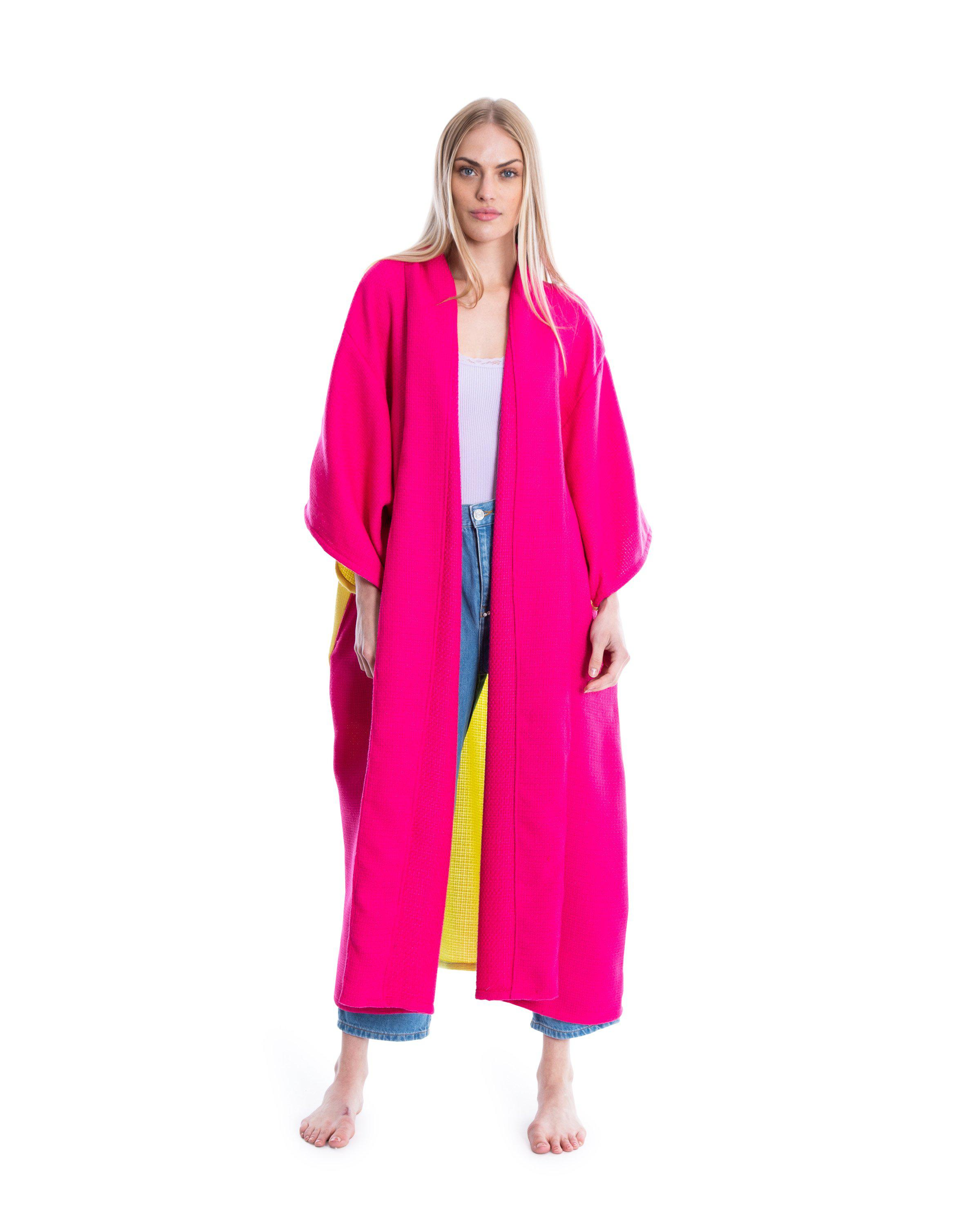 no. 4045 hot pink & yellow duster