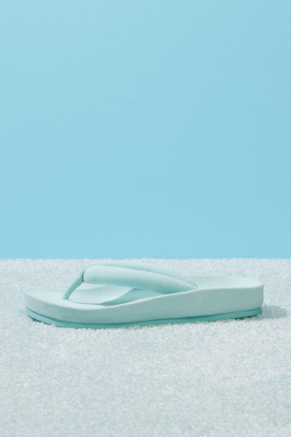 Puffer Padded Flip Flop - Baby Blue