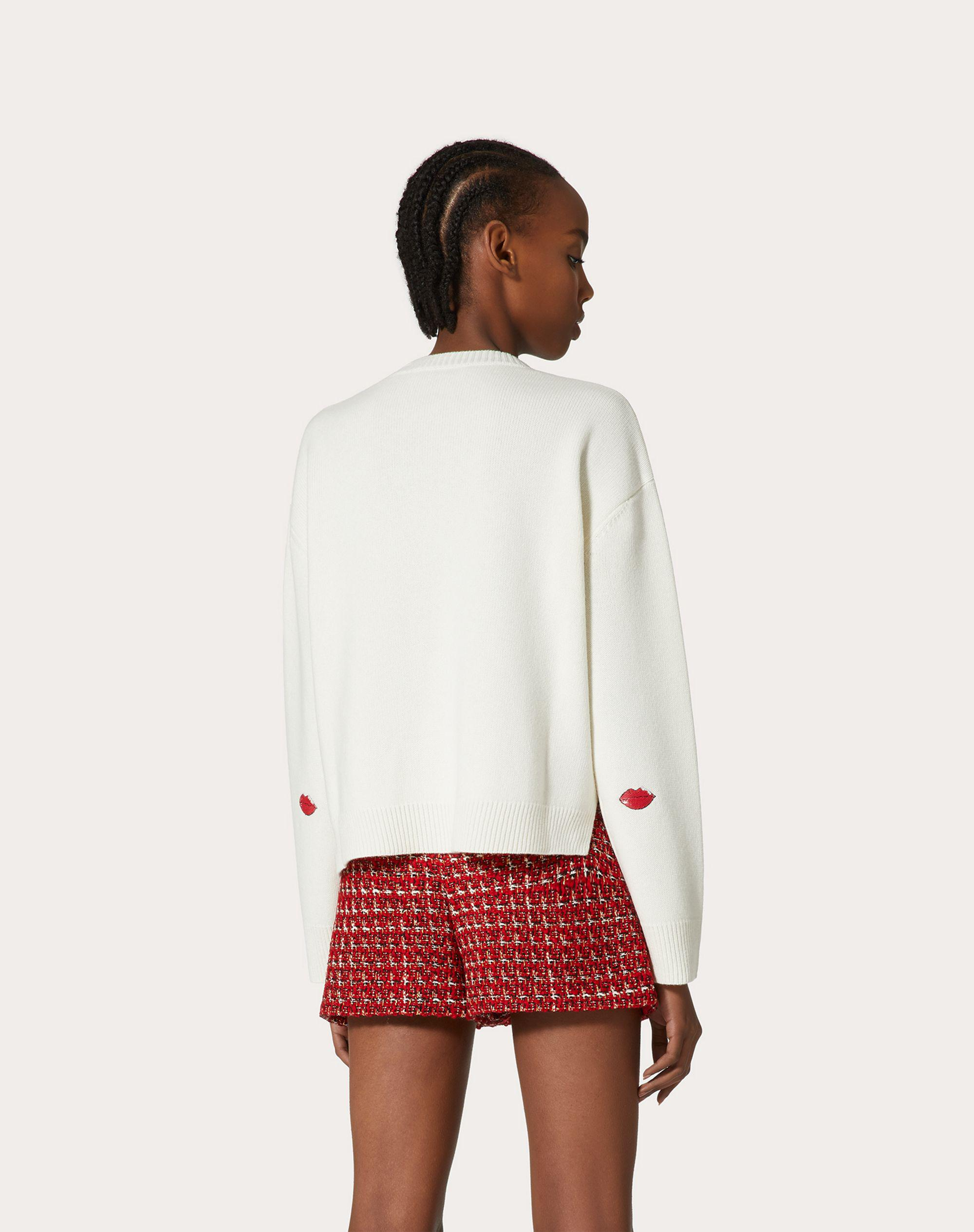 EMBROIDERED CASHMERE WOOL SWEATER 2