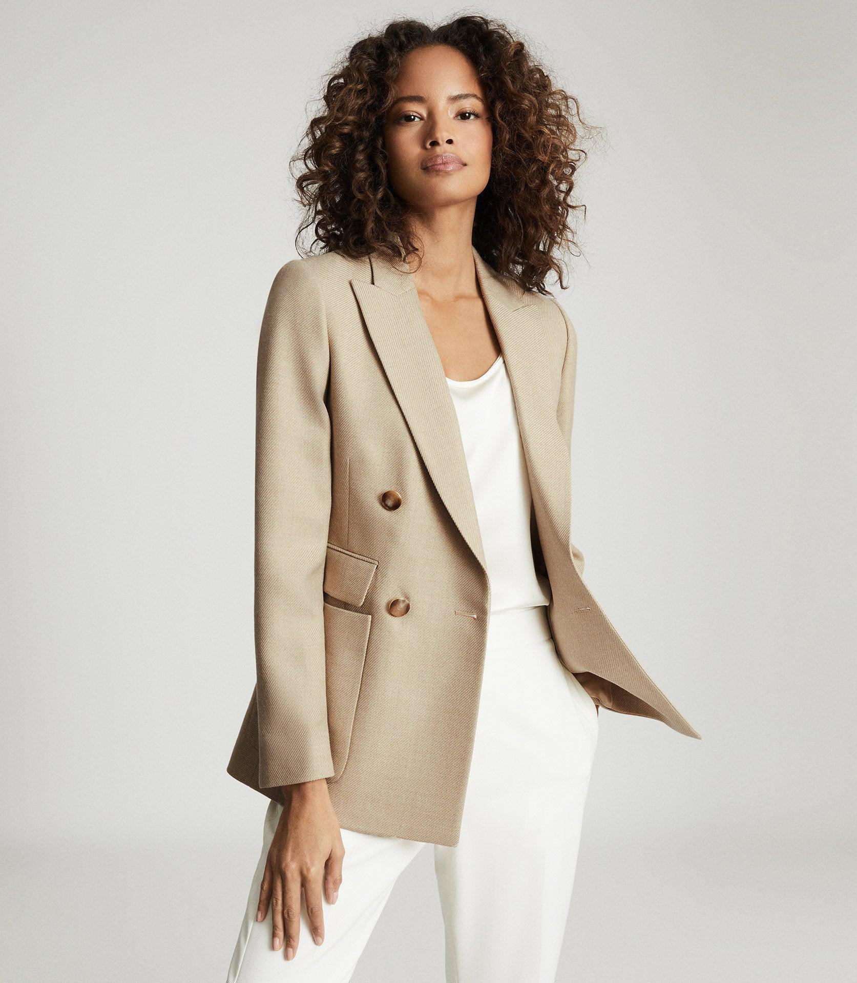LARSSON - DOUBLE BREASTED TWILL BLAZER 1