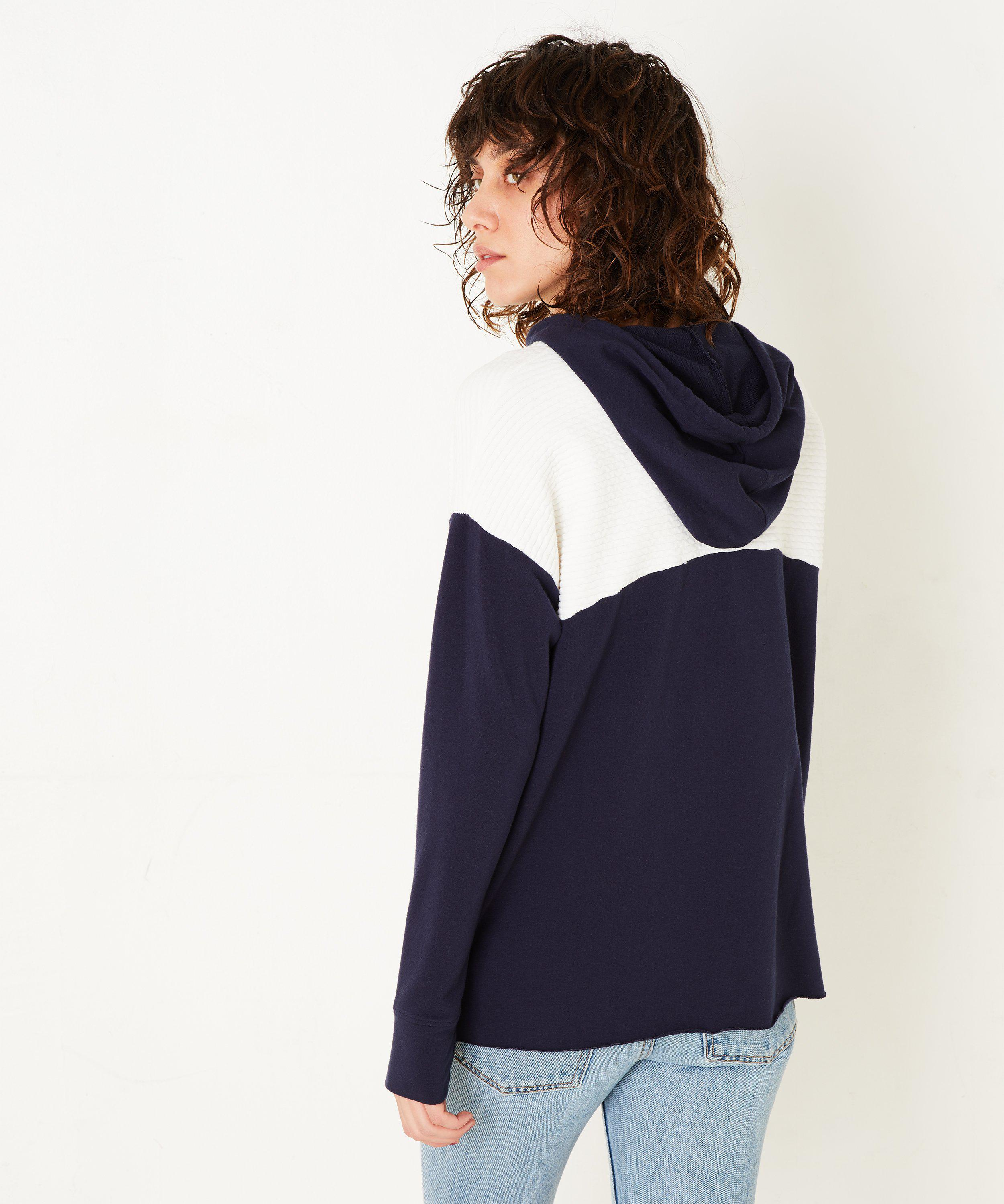 COLOR BLOCK PULLOVER- Navy/white 2