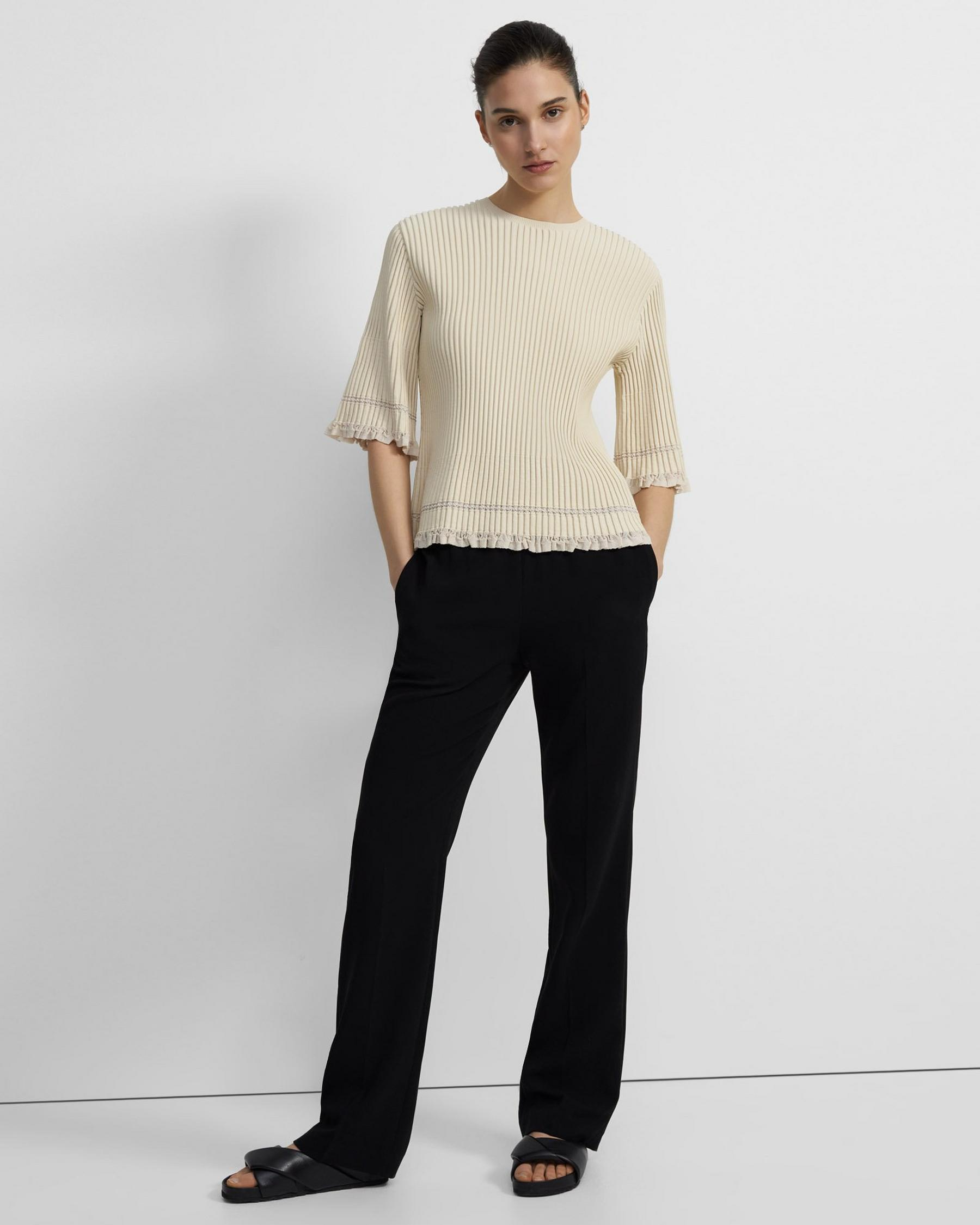 Ribbed T-Shirt in Eco Knit 3