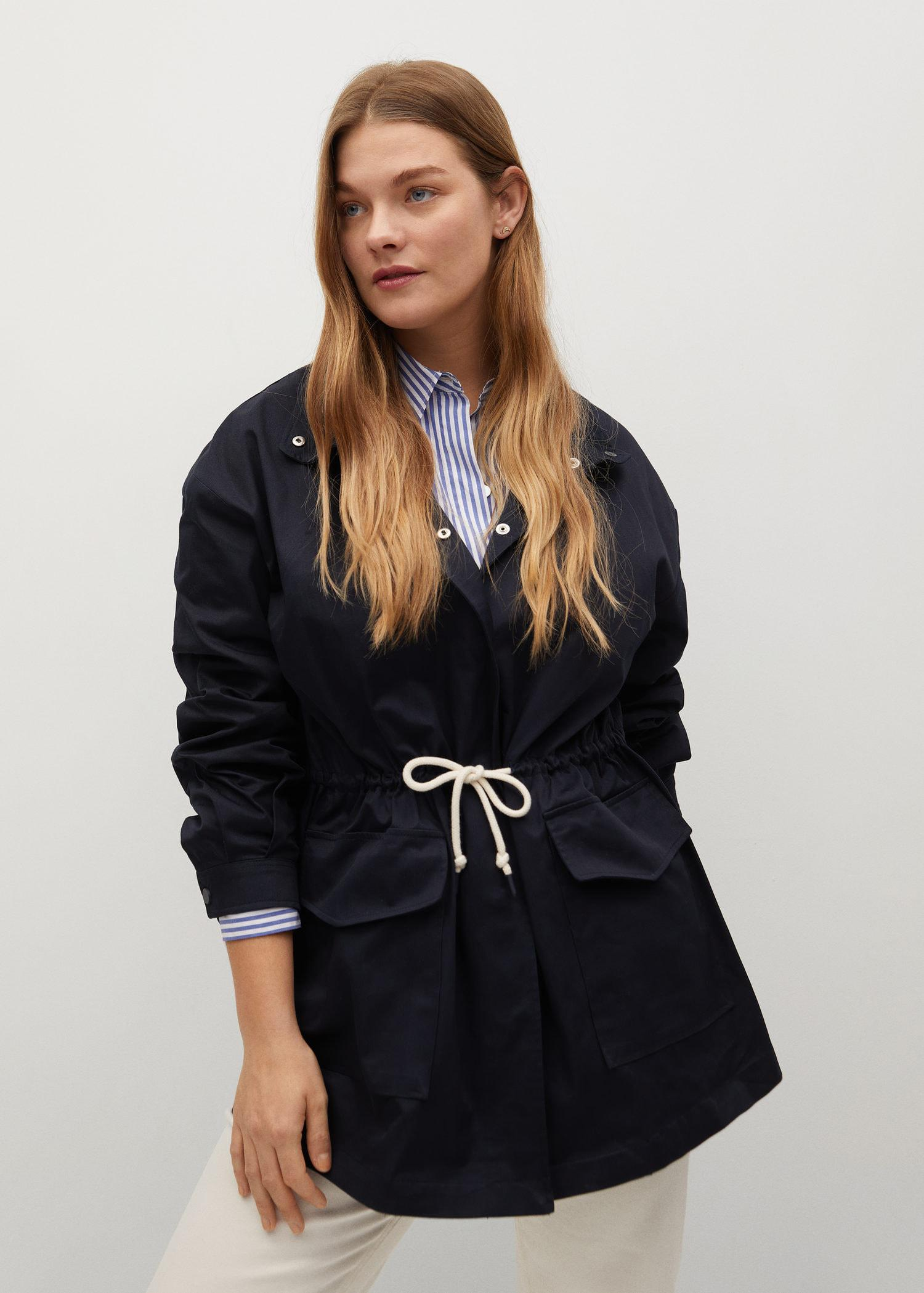 Trench coat with ruffle detail 6