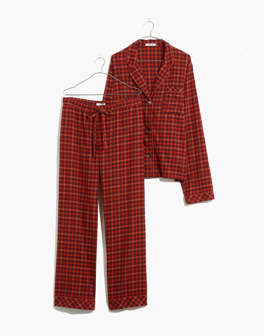 Flannel Bedtime Pajama Set in Plaid 3