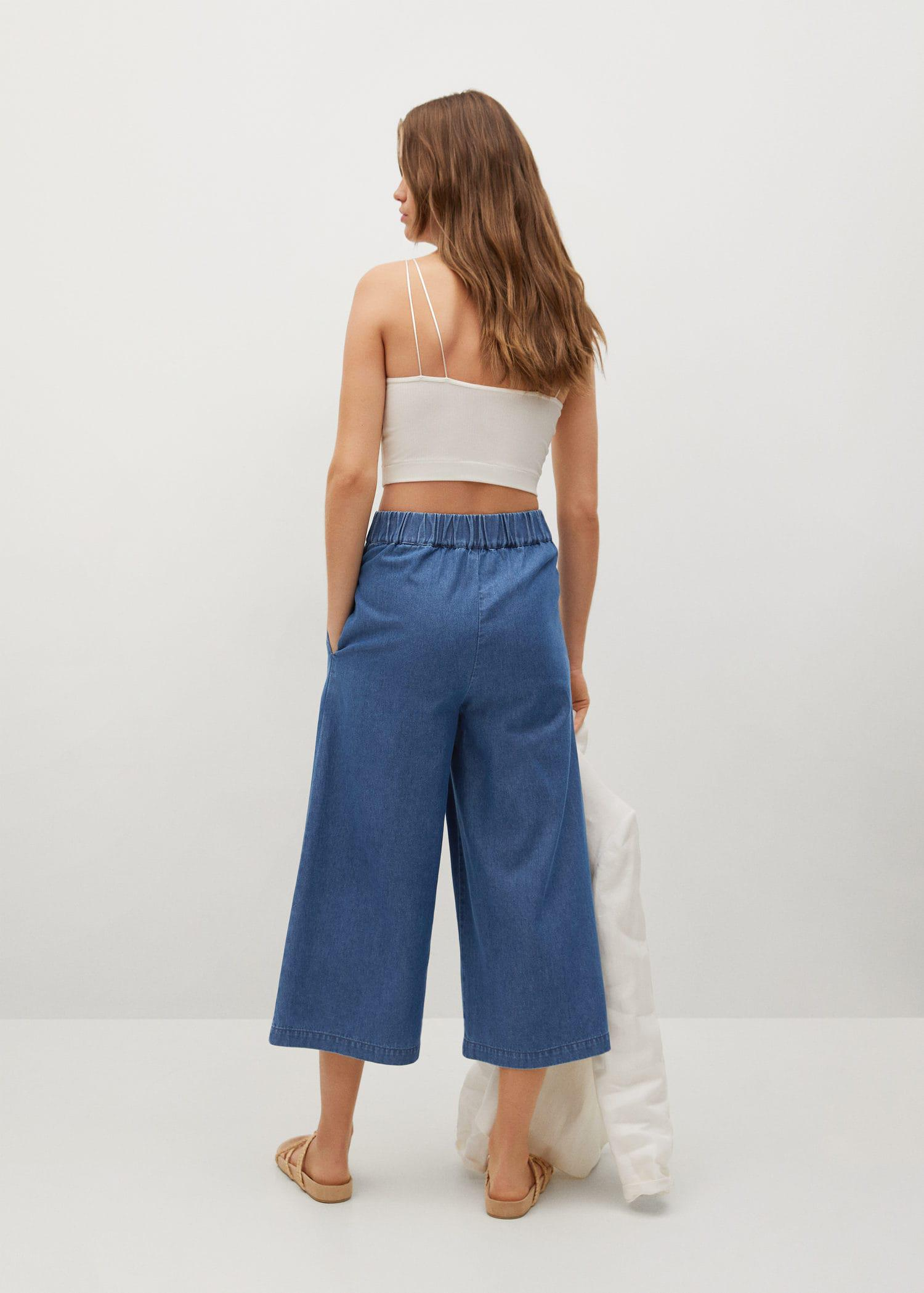 Pleated culottes pants 2
