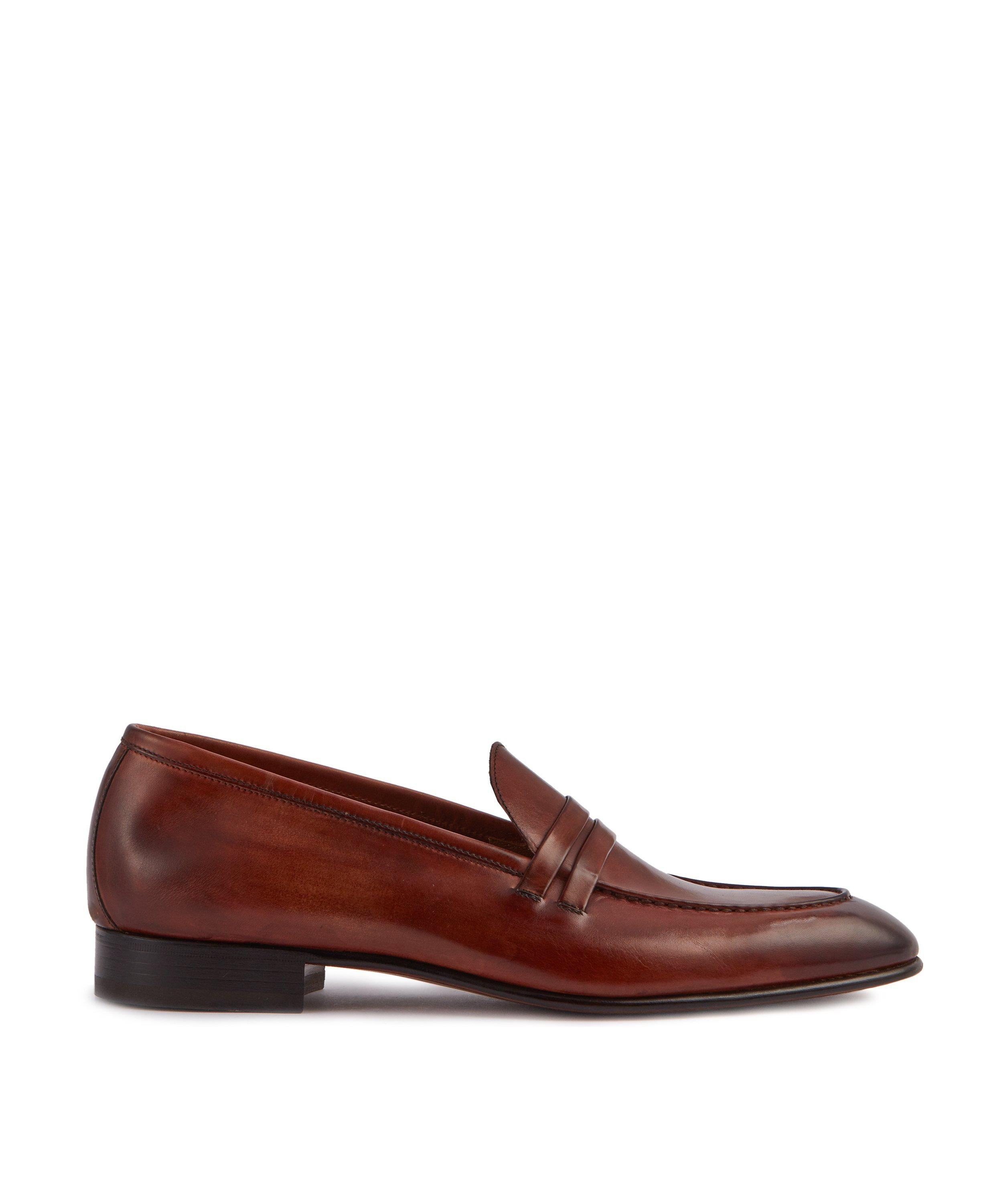 LUCA BROWN PENNY LOAFERS