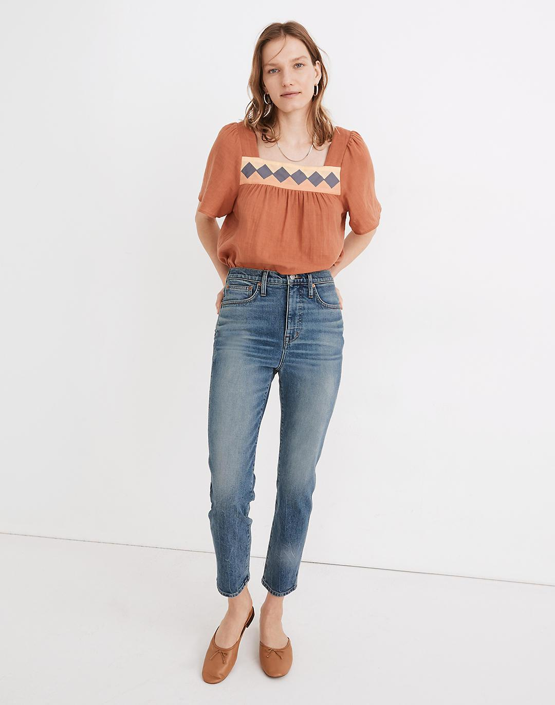 Rivet & Thread High-Rise Stovepipe Jeans in Keyes Wash