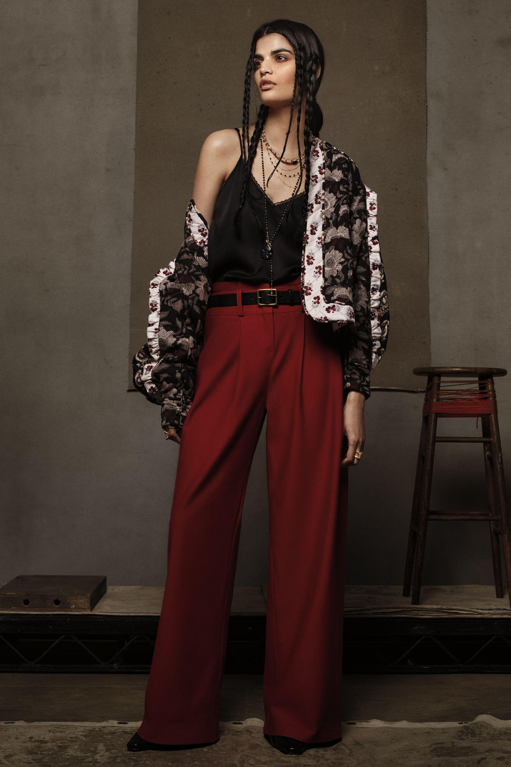 Paperbag Wide-Leg Trousers