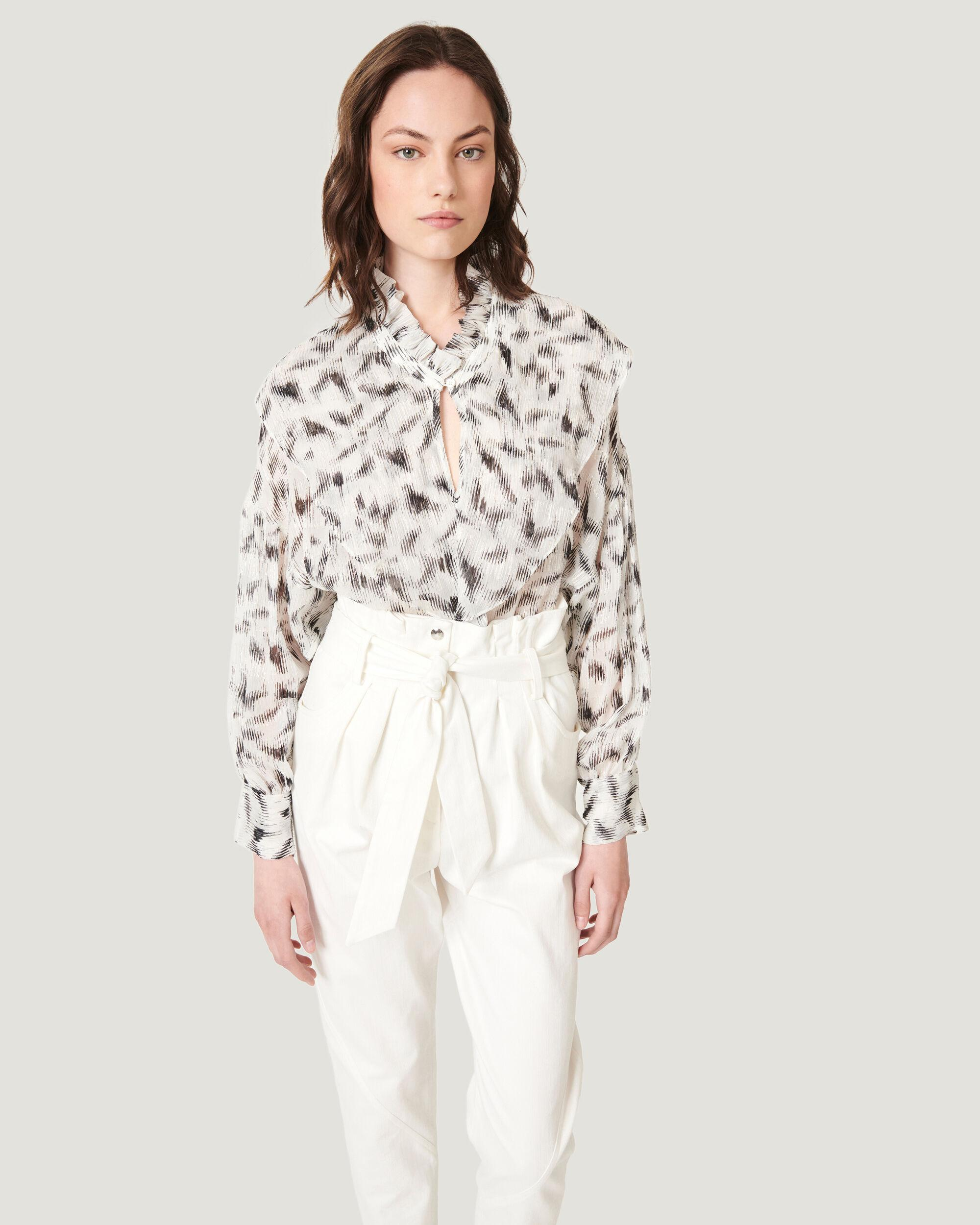 GARETTI CROPPED PAPERBAG TROUSERS 1