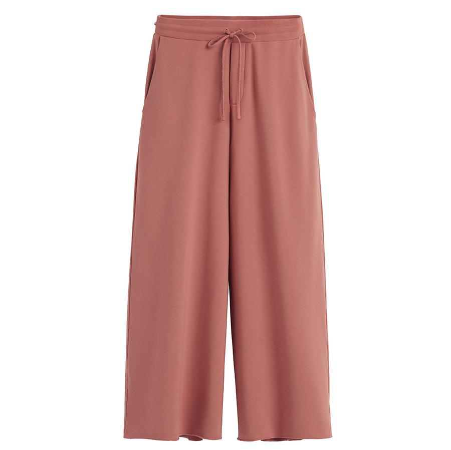 Women's French Terry Wide-Leg Cropped Pant in Passion Fruit | Size: