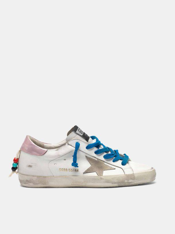 Super-Star sneakers with a row of beads on the back