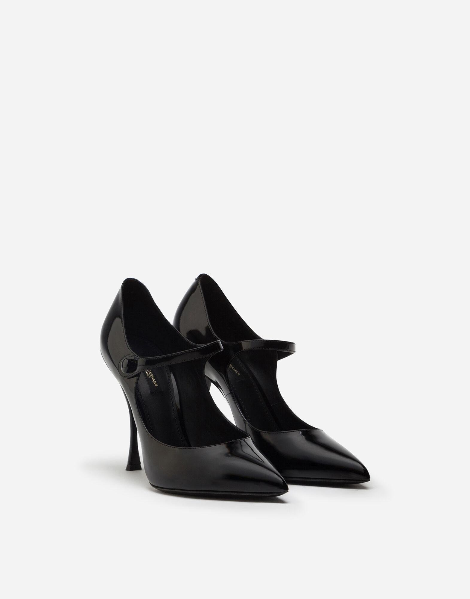 Mary Jane shoes in polished calfskin 1