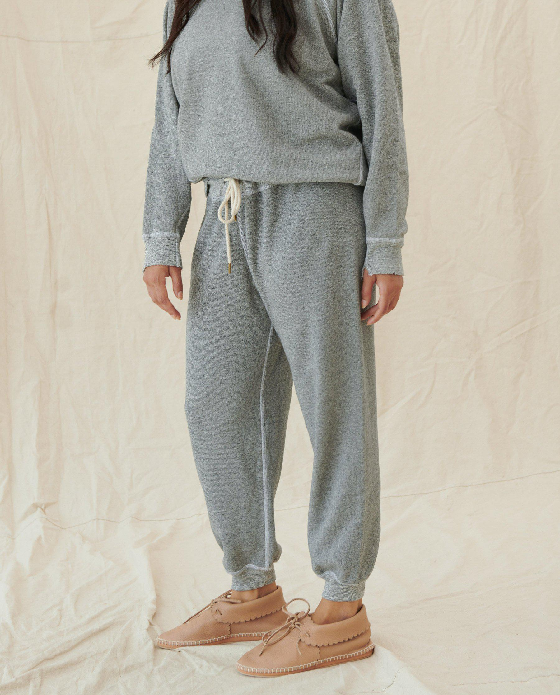 The Cropped Sweatpant. Solid -- Varsity Grey 3