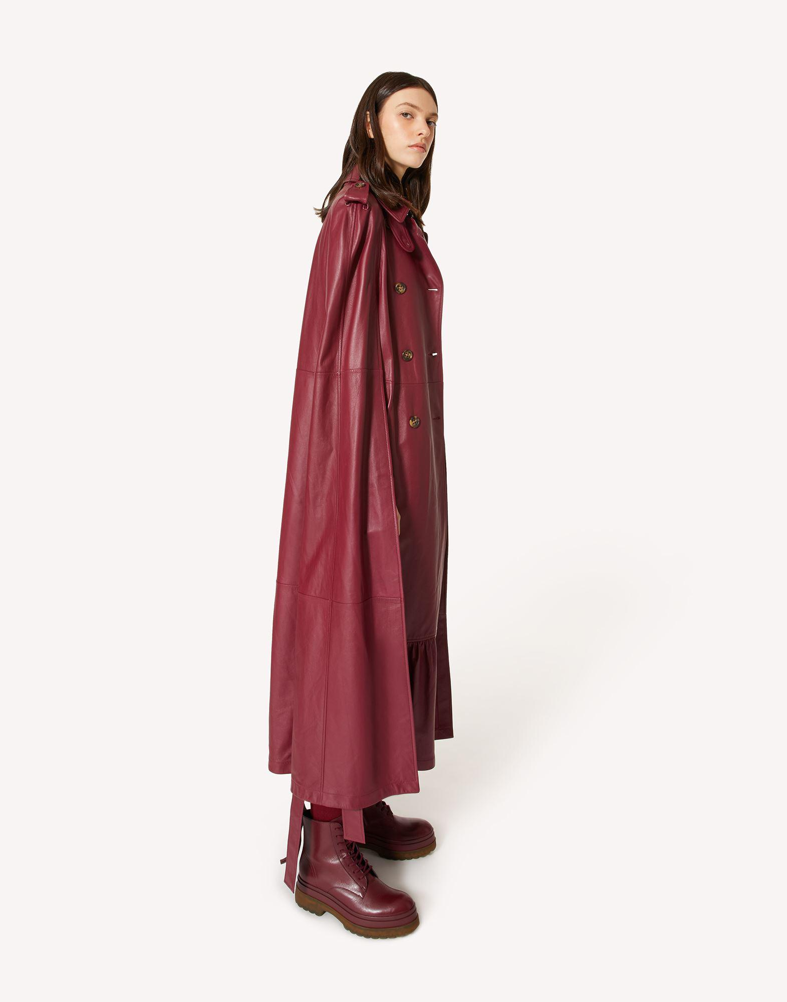 LEATHER TRENCH-LIKE CAPE 2