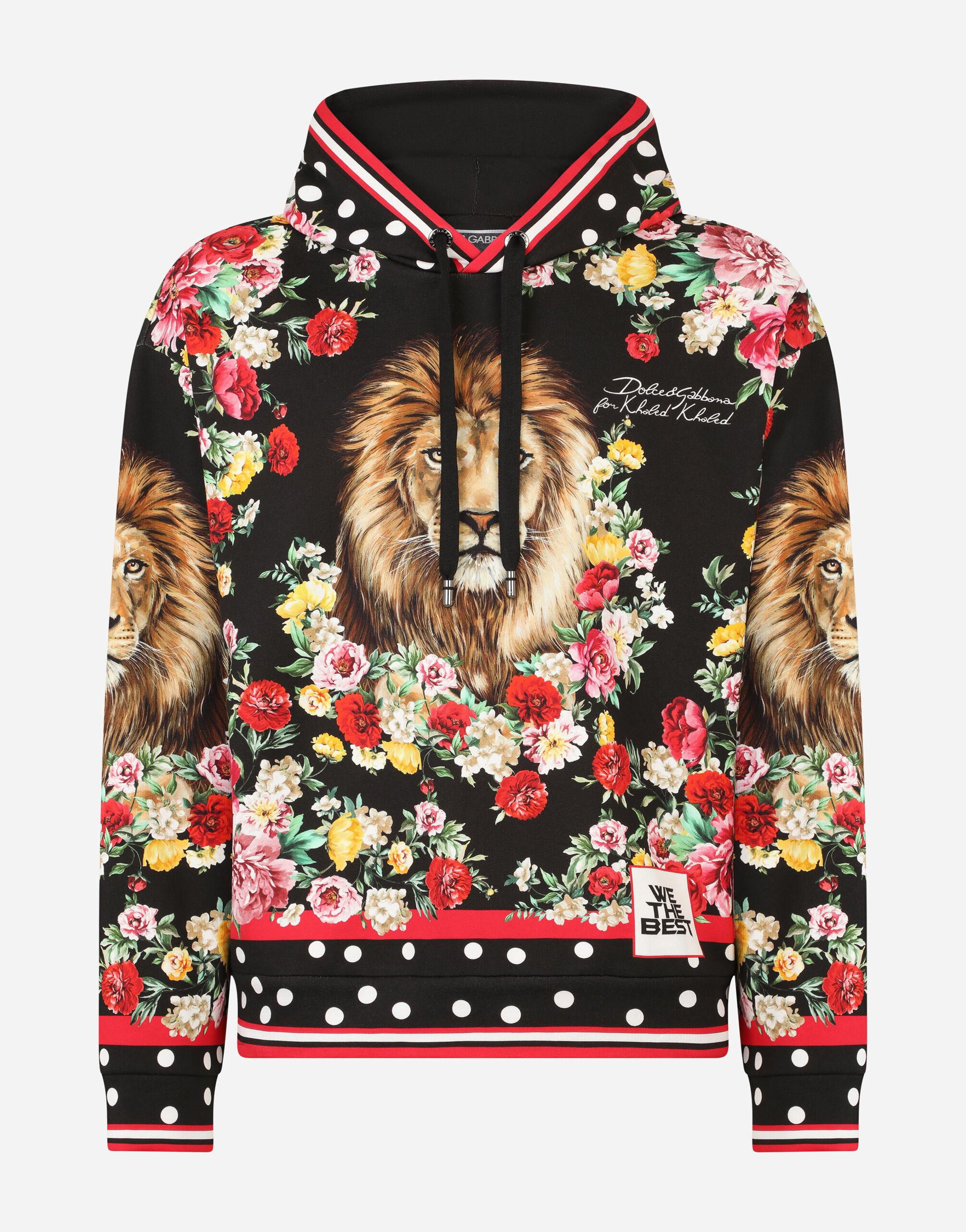 Hoodie with lion mix print 7