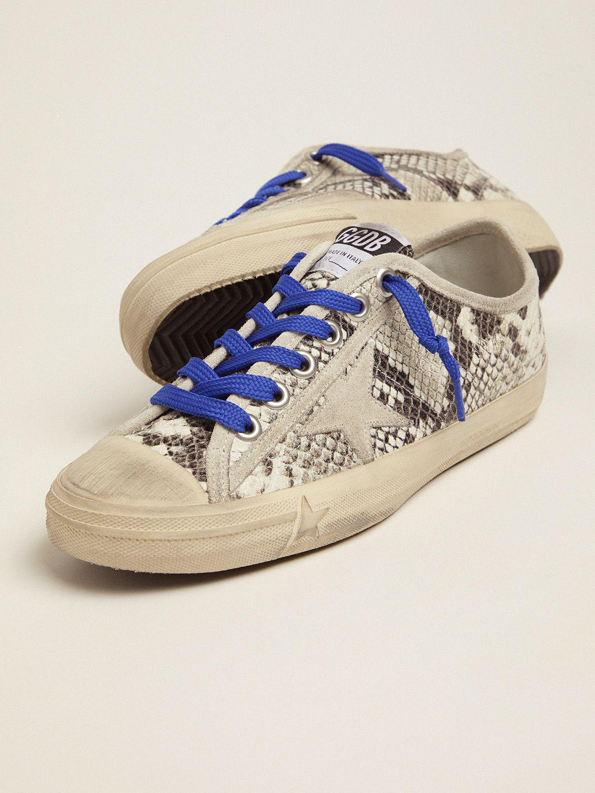 V-Star sneakers in snake-print leather with fuchsia insert 2