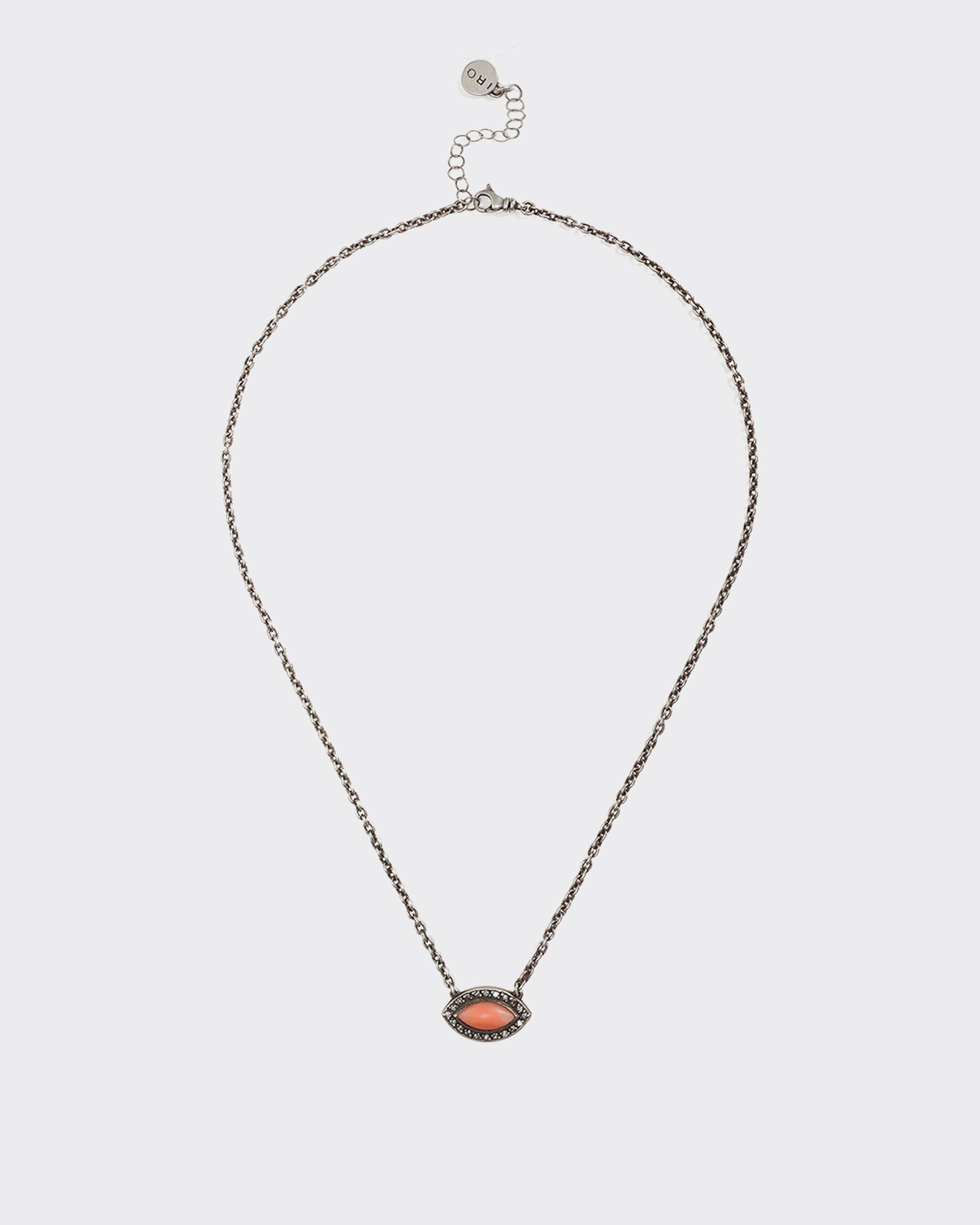 THORI SILVER AND RED CORAL BEAD NECKLACE