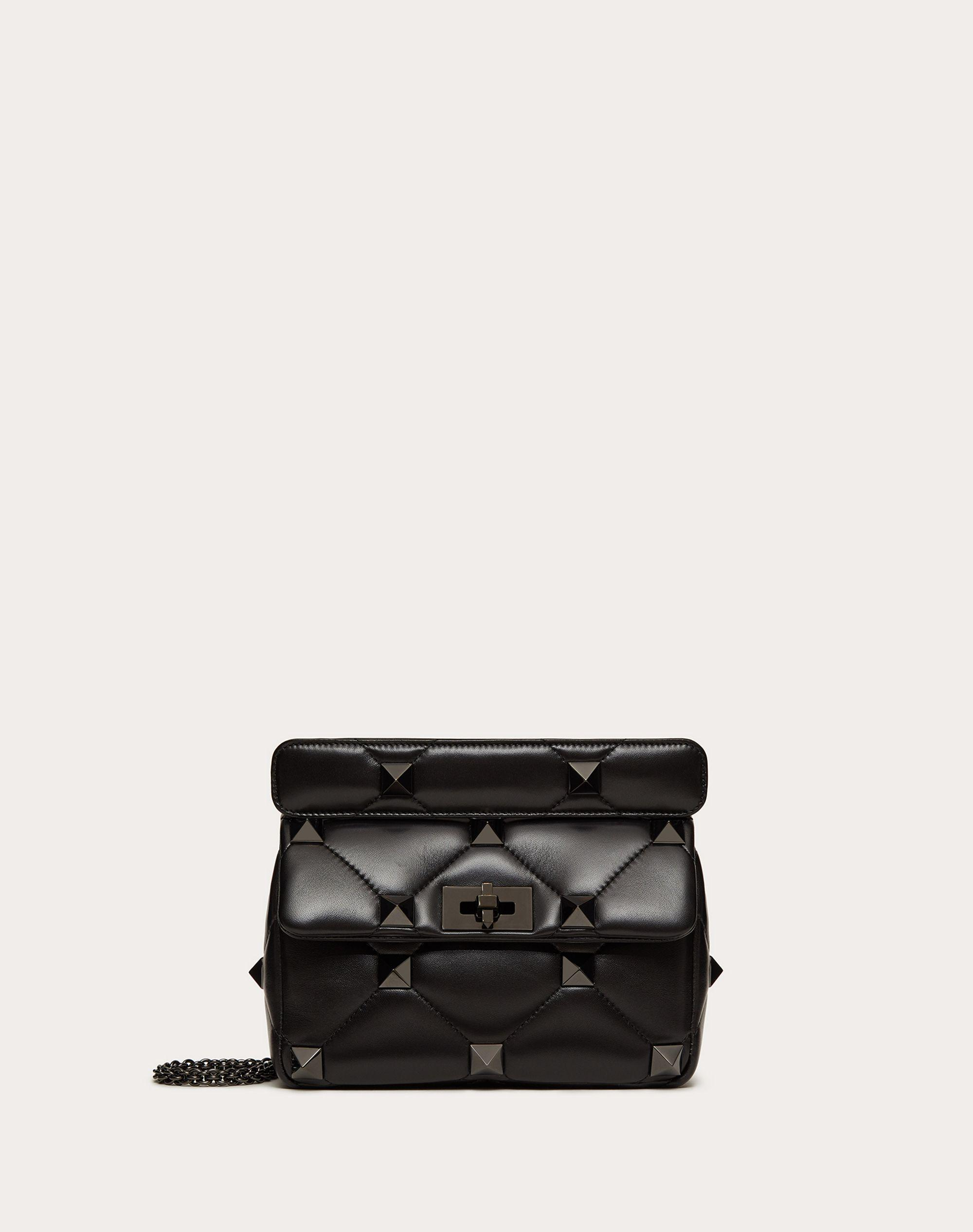 Medium Roman Stud The Shoulder Bag in Nappa with Chain and Tonal Studs
