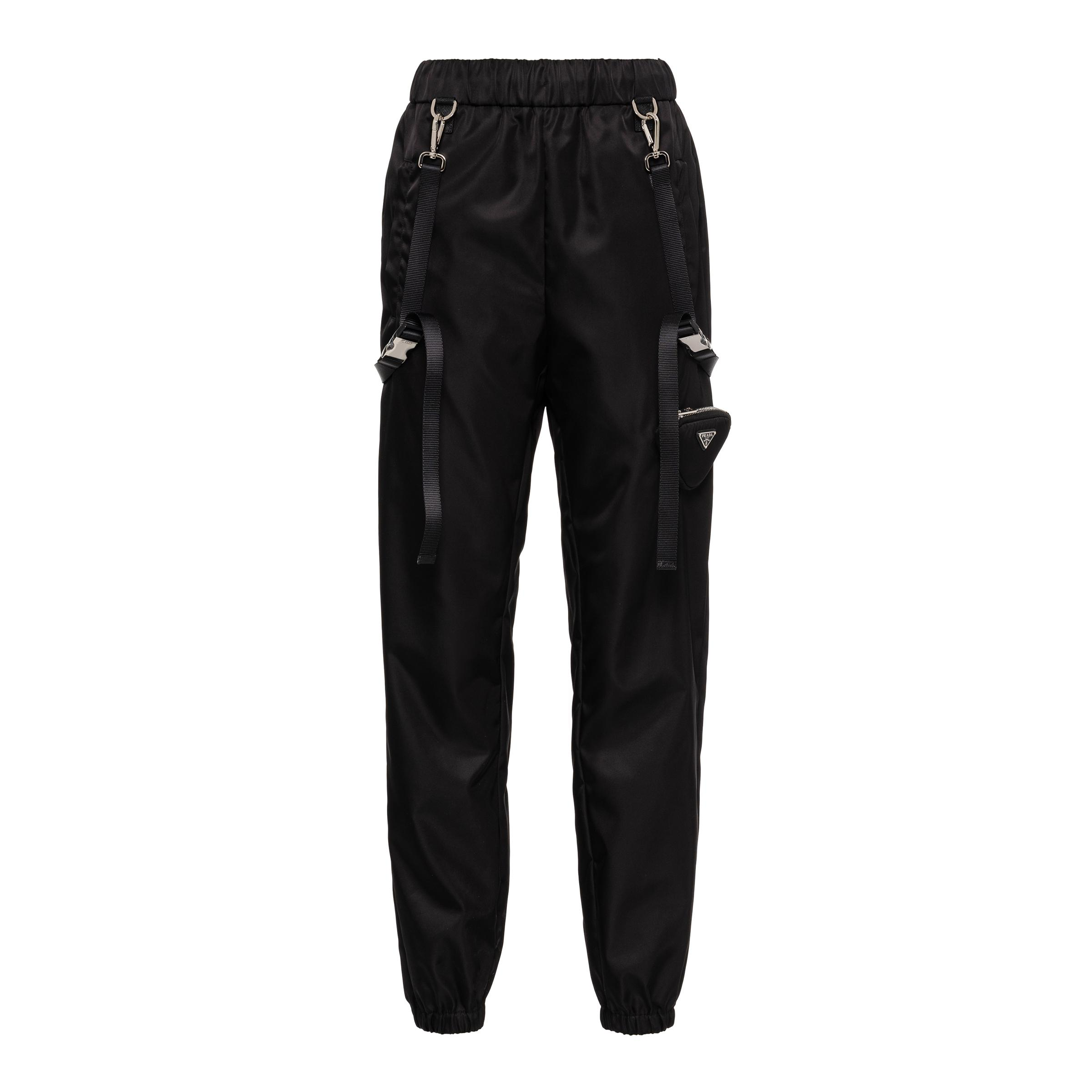 Re-nylon Pants With Suspenders And Pouch Women Black