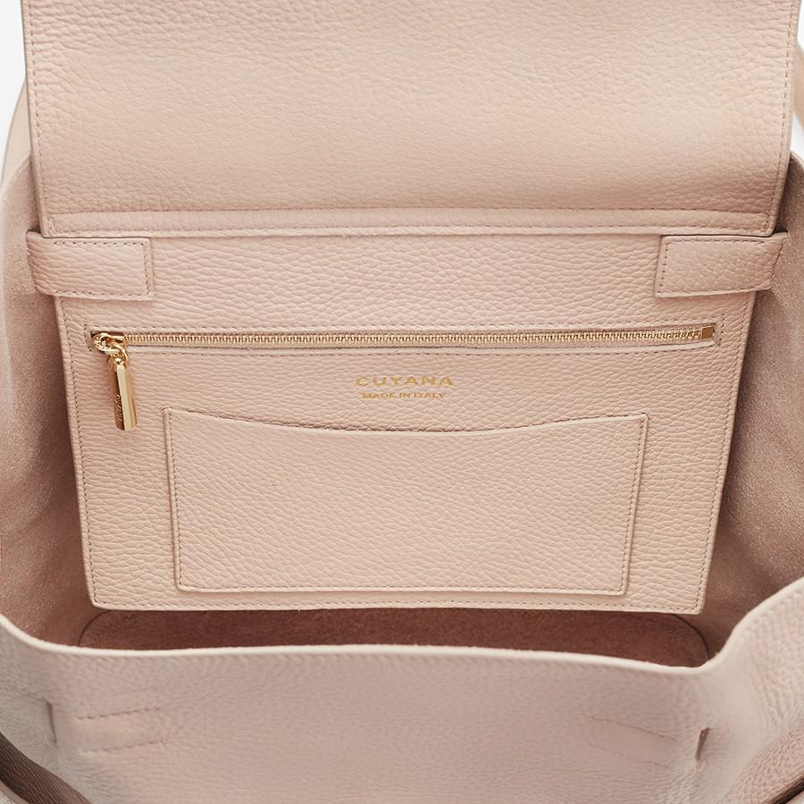 Women's Leather Backpack in Blush Pink | Pebbled Leather by Cuyana 4