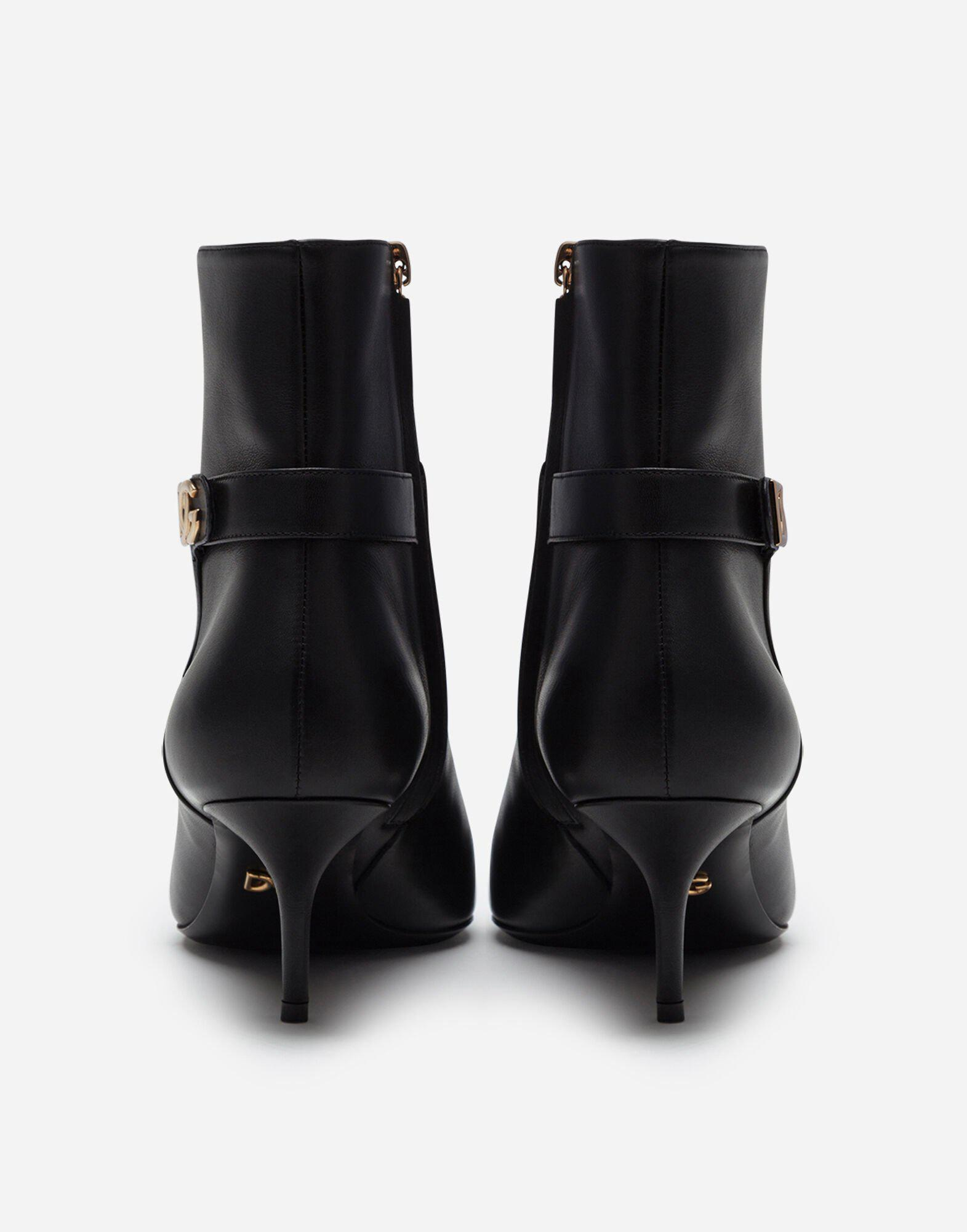 Calfskin ankle boots with DG logo 2