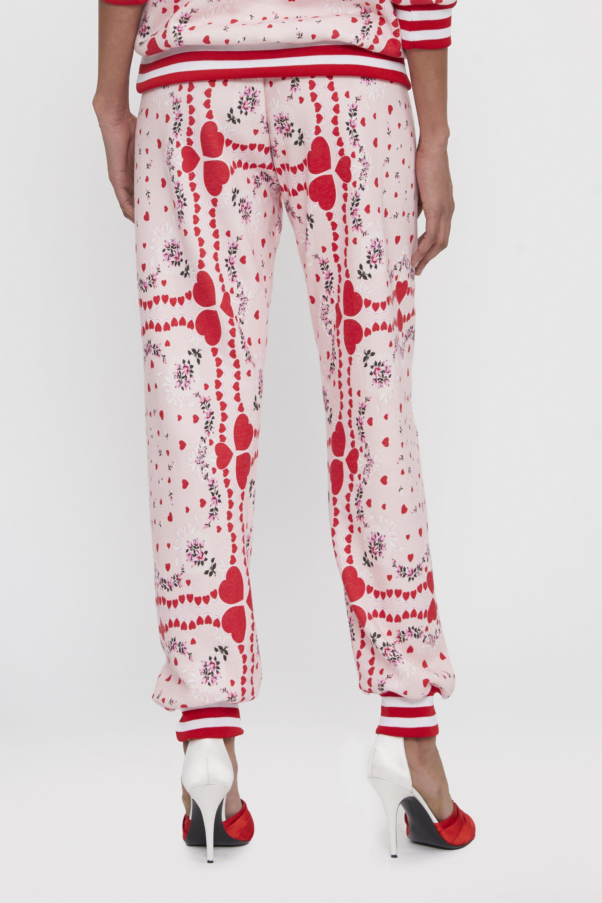 HEART AND FLORAL PRINT SWEATPANT 4