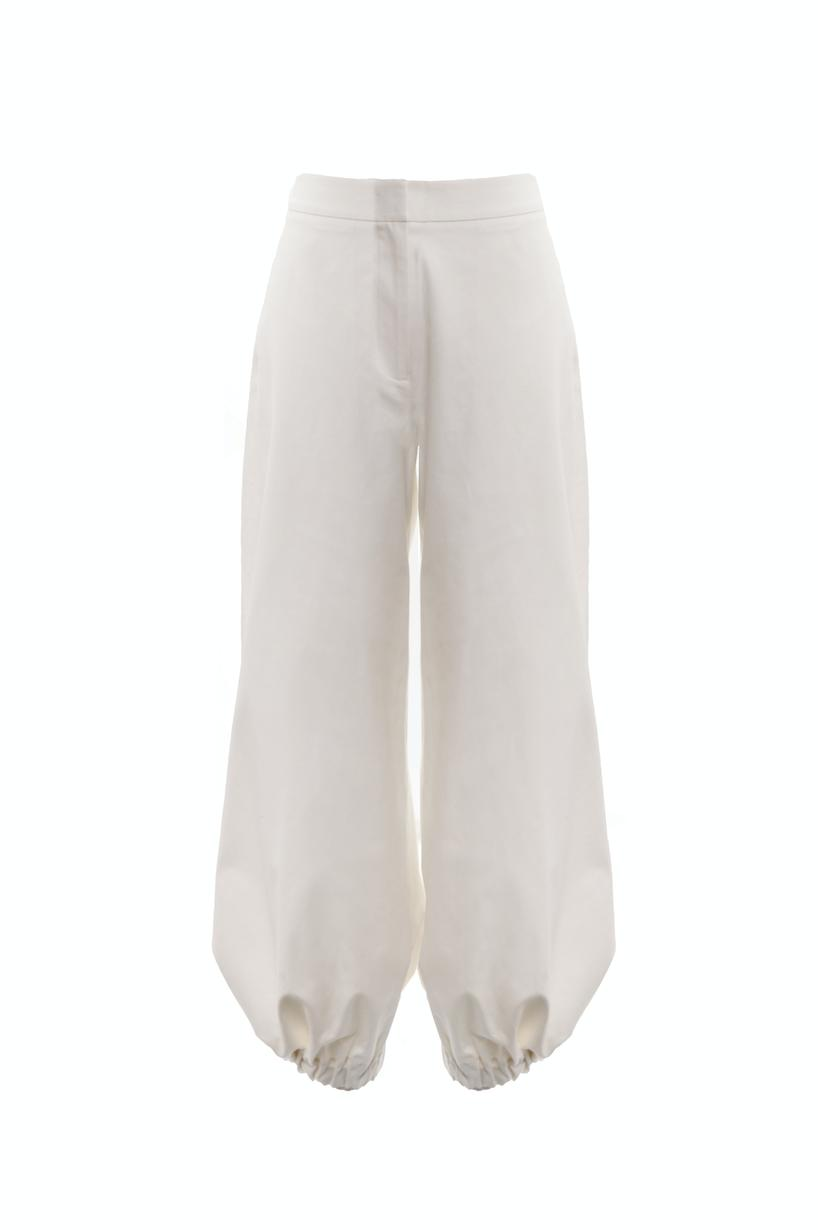 Drawcord Trousers (Ivory) 2