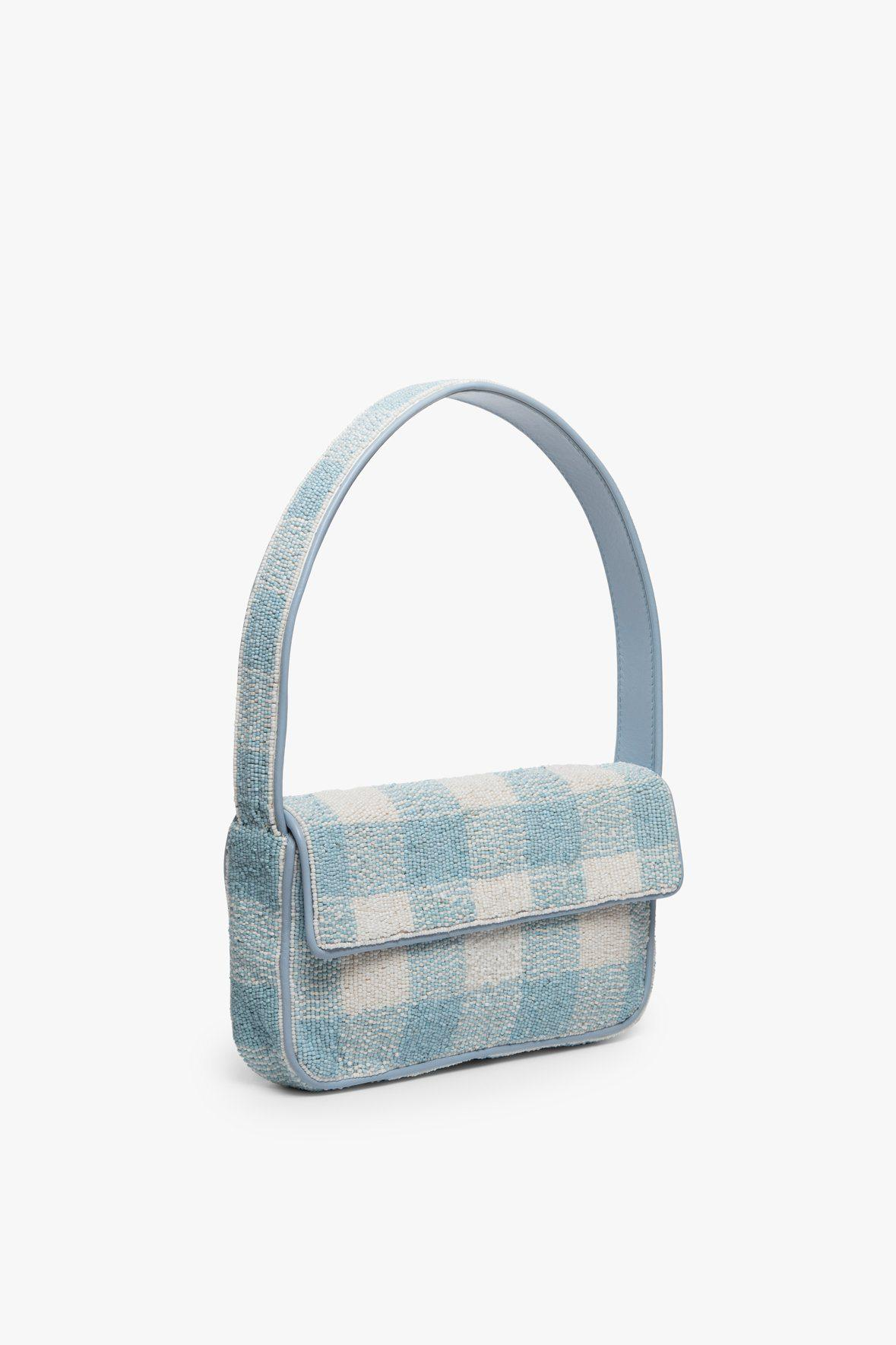 TOMMY BEADED BAG   ARCTIC BLUE WHITE 2