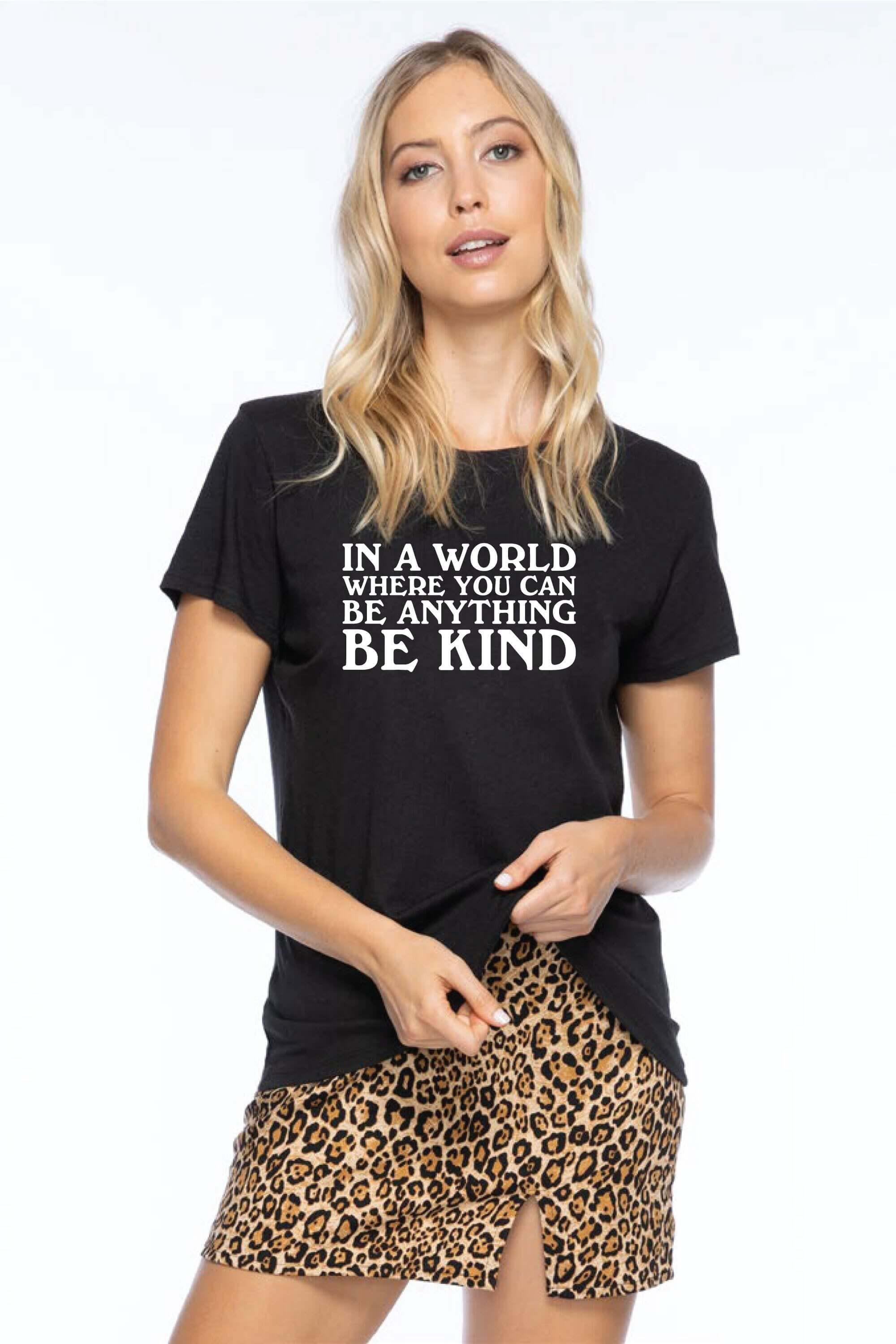 IN A WORLD LOOSE TEE - BLACK