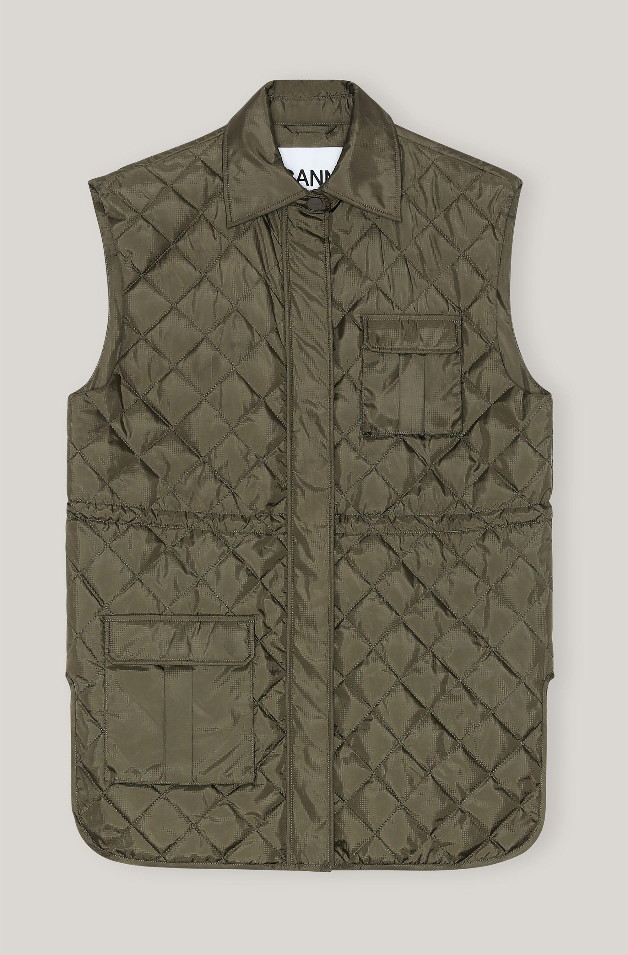 Quilted Tech Fabric Vest