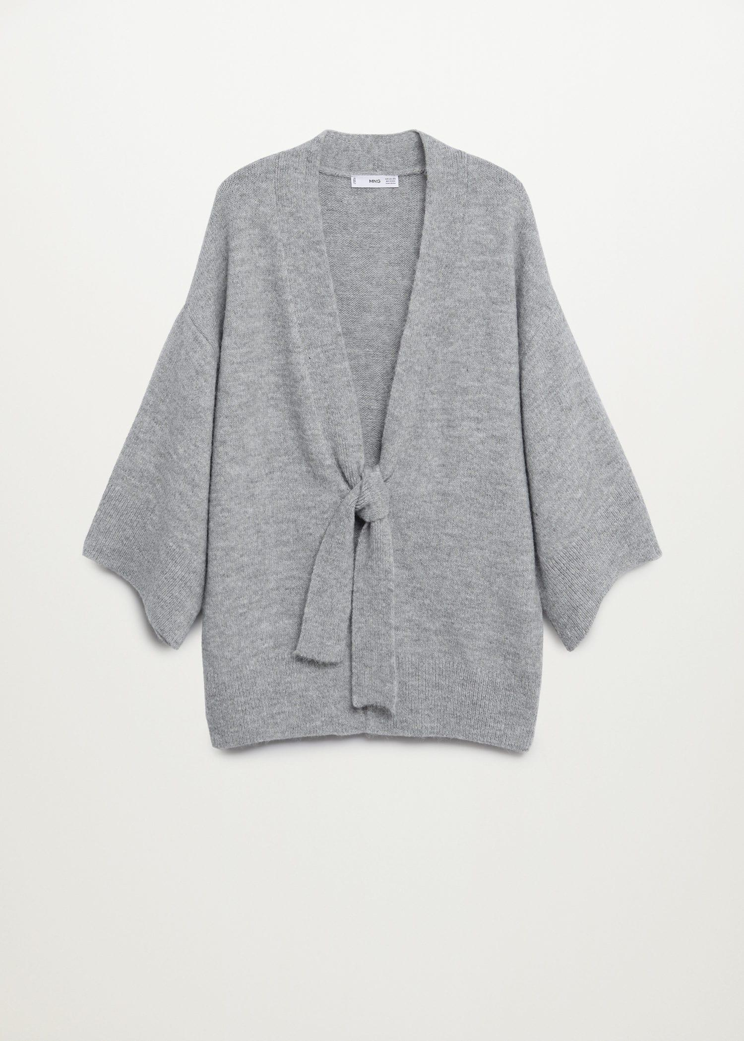 Knitted cardigan with belt 8