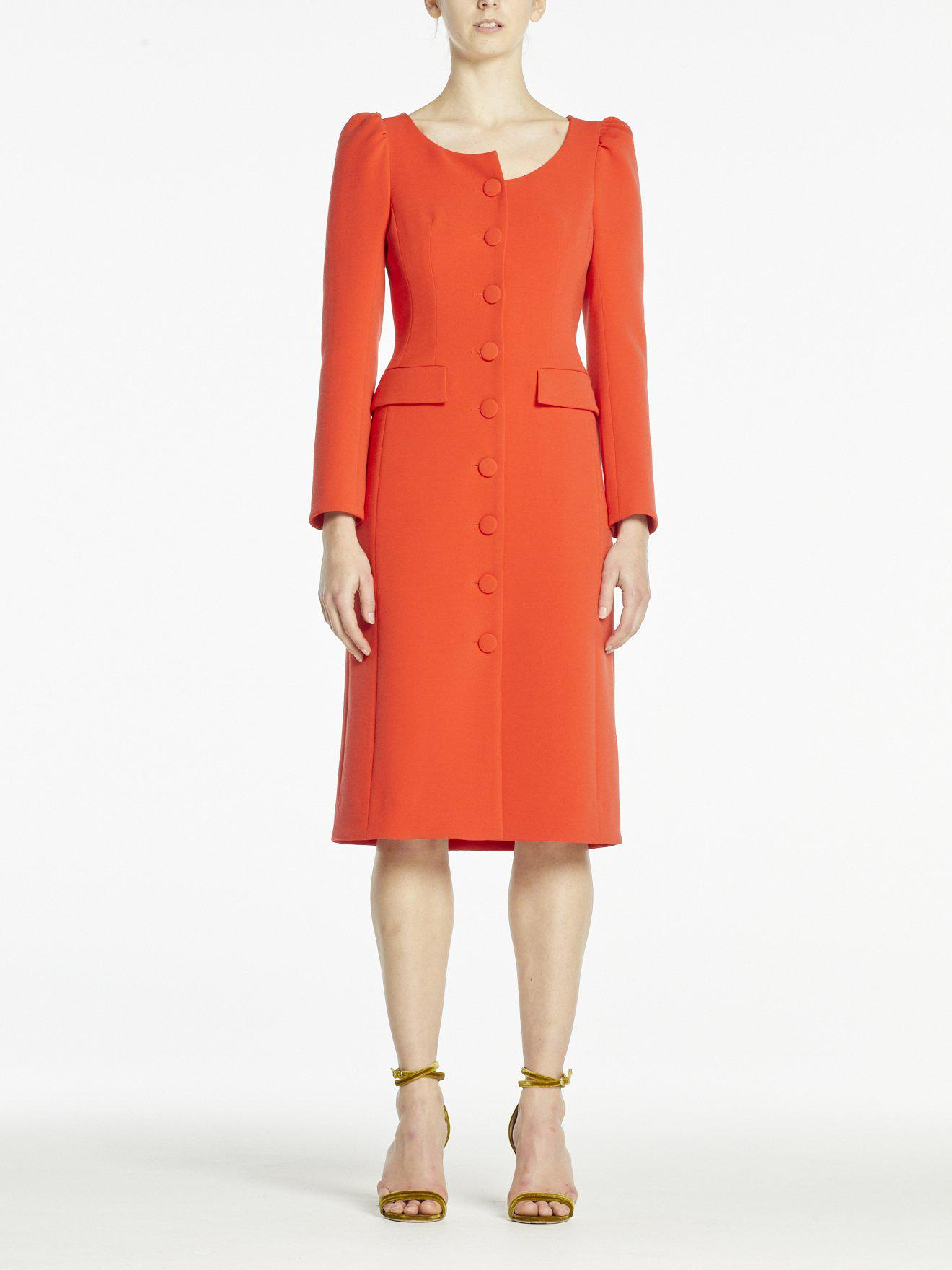 NELL DRESS RED CREPE