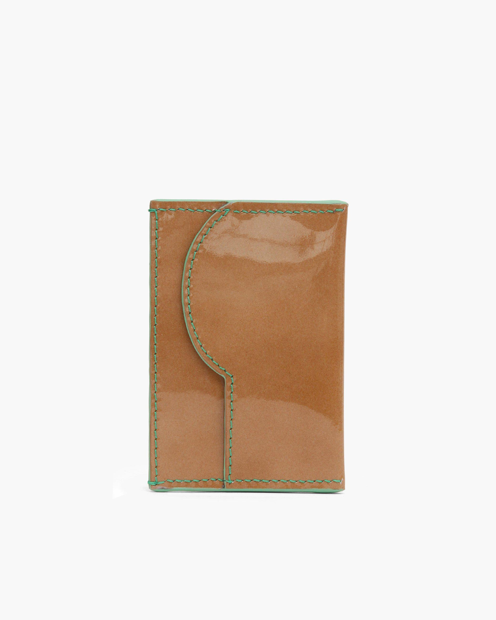RP Card Holder Patent Leather Brown 1
