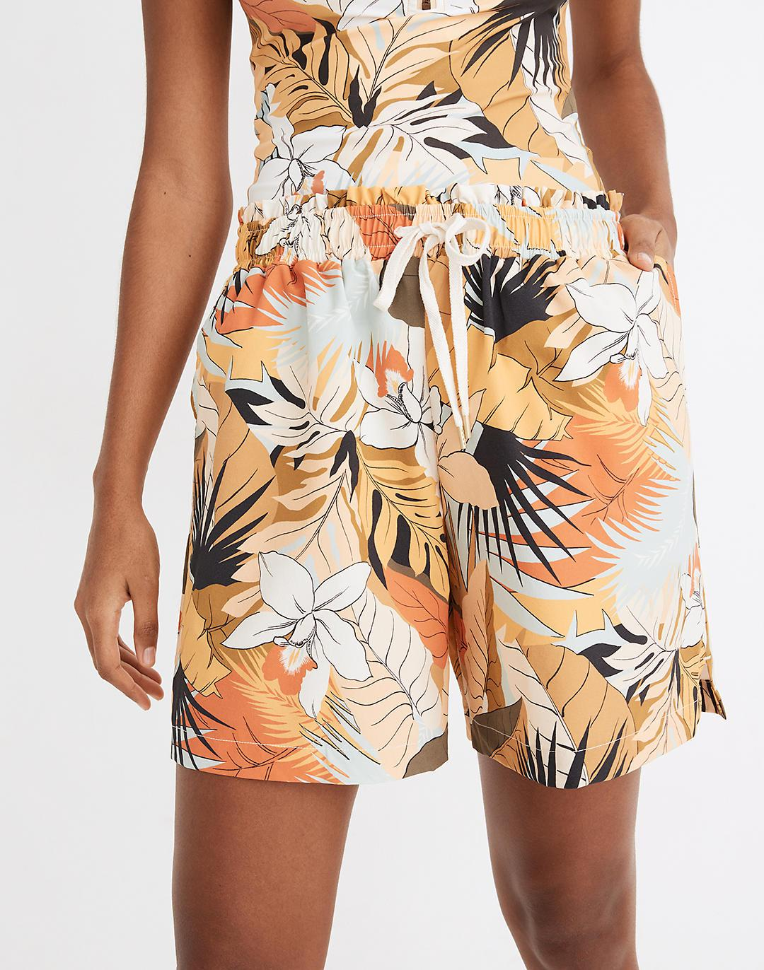 Madewell Second Wave Board Shorts in Tropical Vacation 1