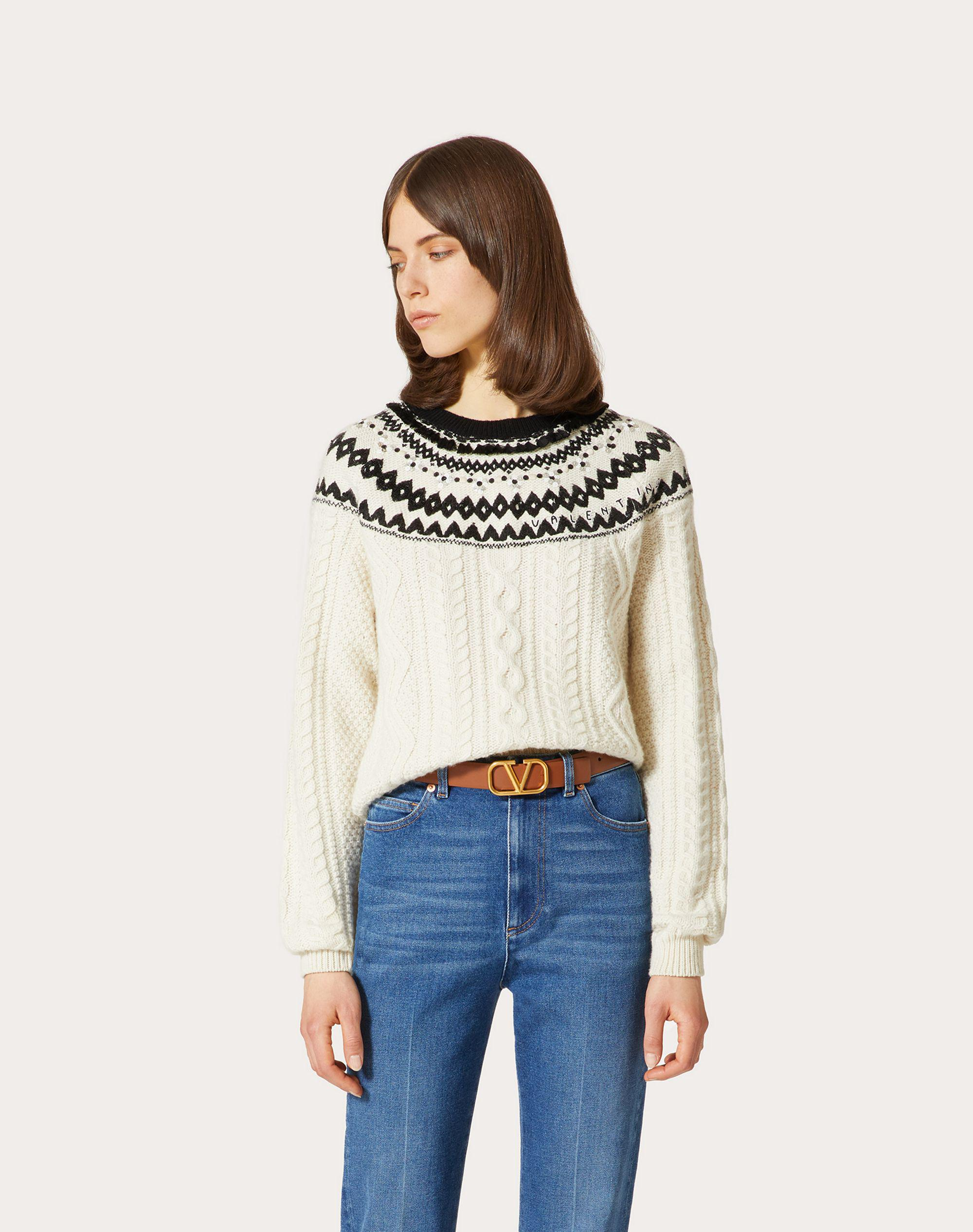EMBROIDERED WOOL SWEATER 1