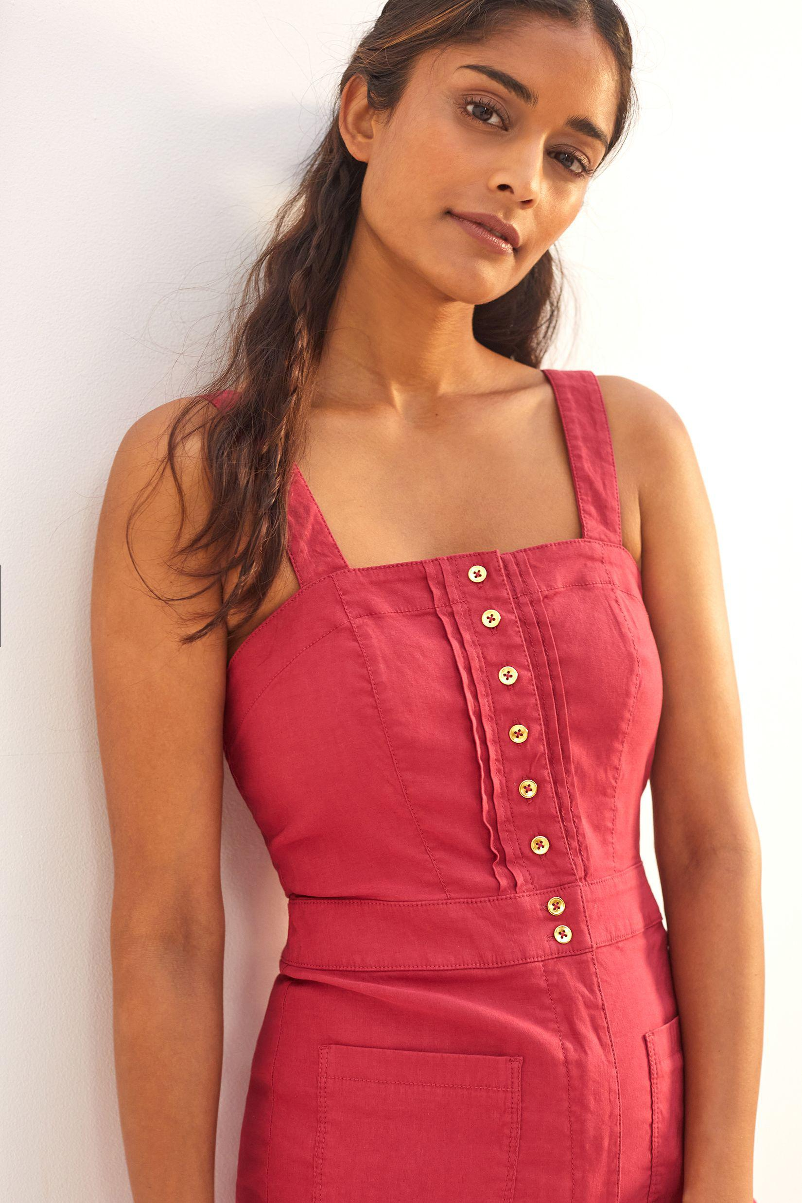 Maeve Colette Cropped Wide-Leg Overalls 1