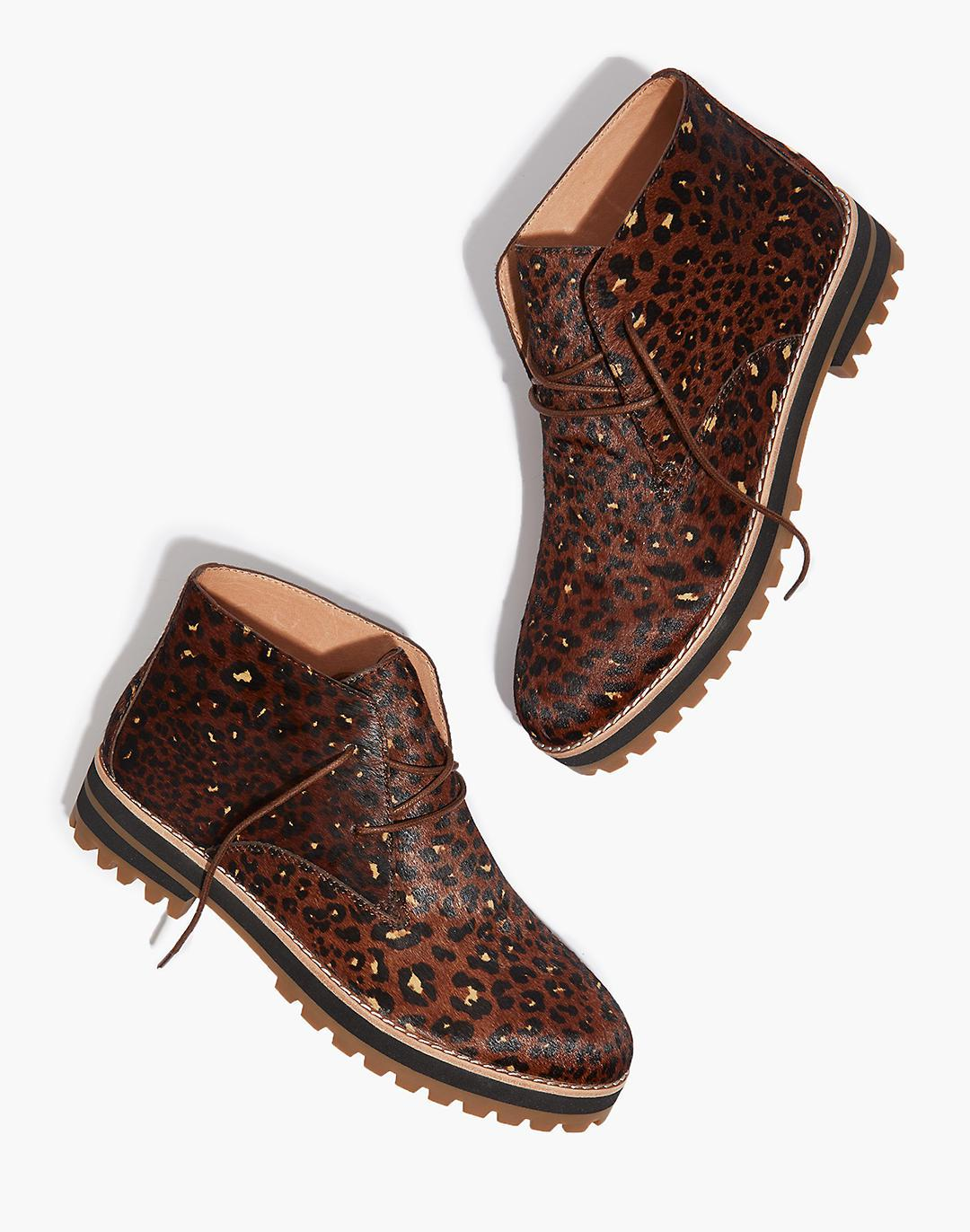 The Wren Boot in Painted Leopard Calf Hair