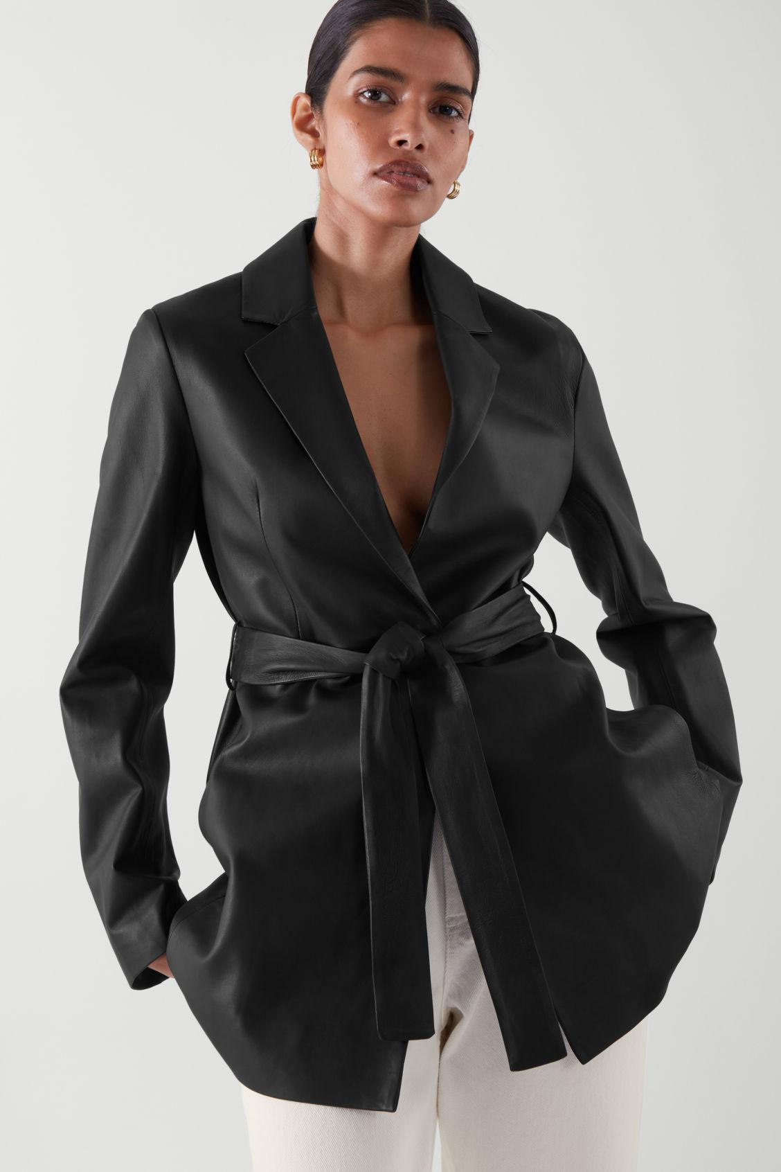 RELAXED NAPPA LEATHER BLAZER