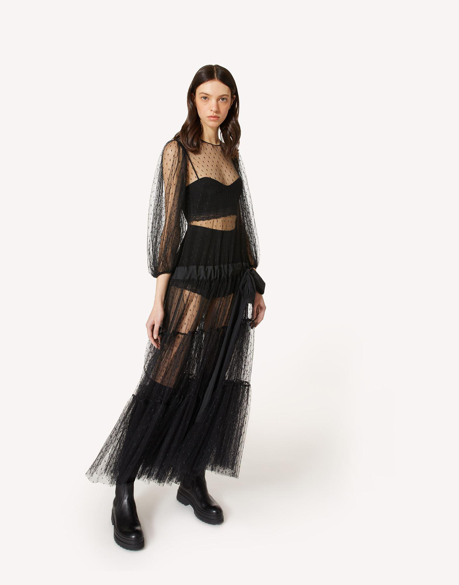 POINT D'ESPRIT TULLE DRESS WITH DRAWSTRING 2
