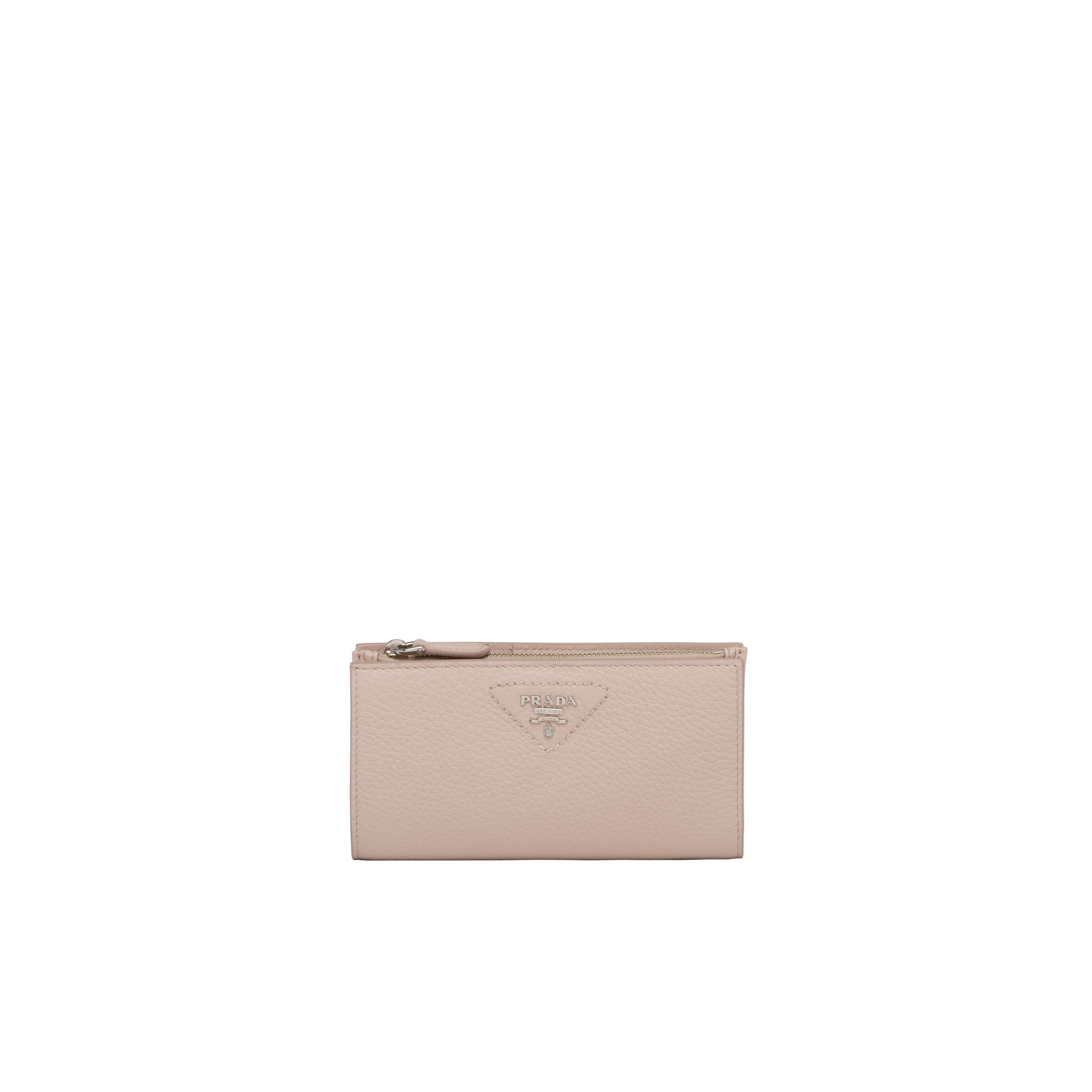 Large Leather Wallet Women Water Lily