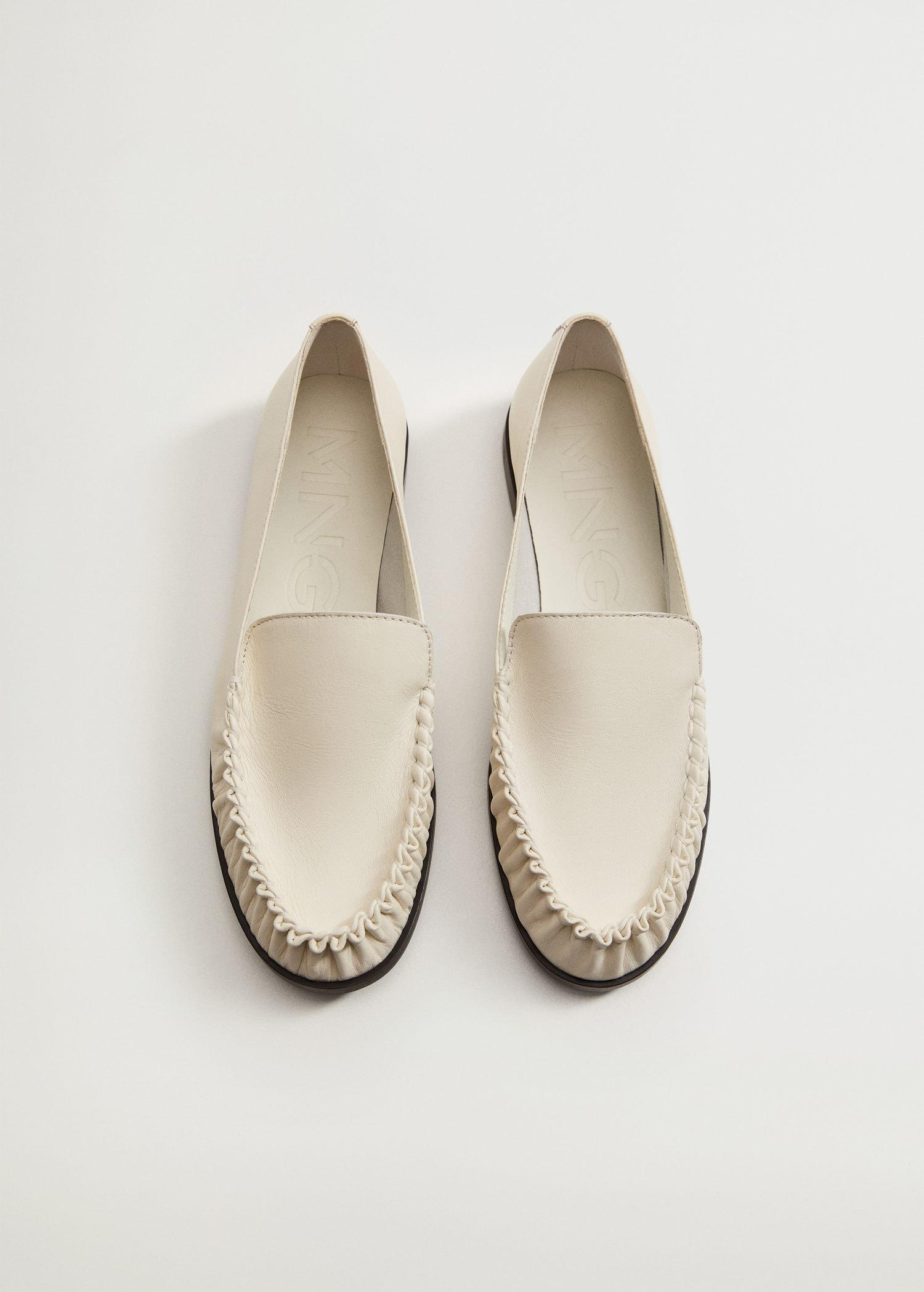 Gathered leather moccasin 5