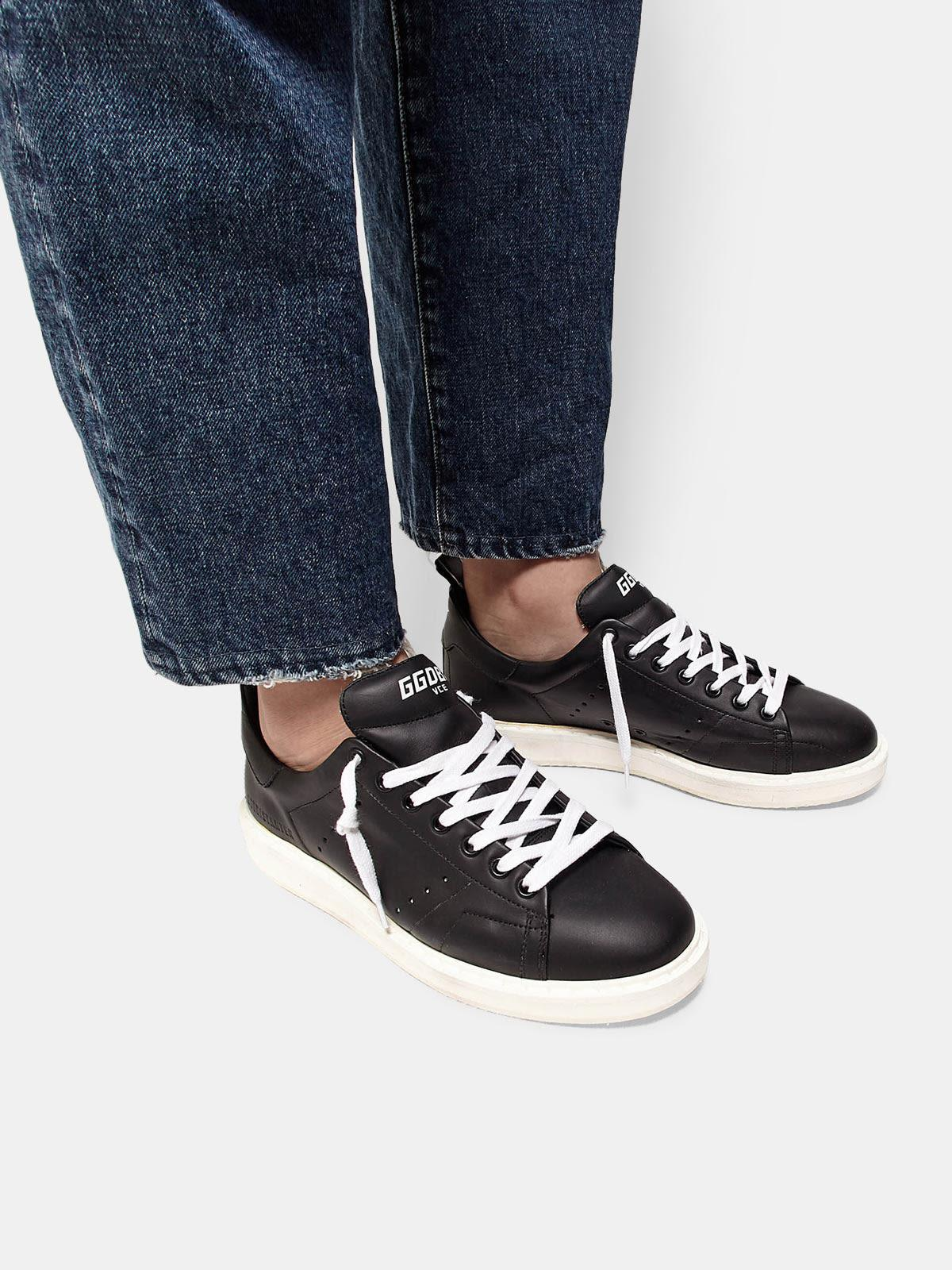 Starter sneakers in total black leather 4