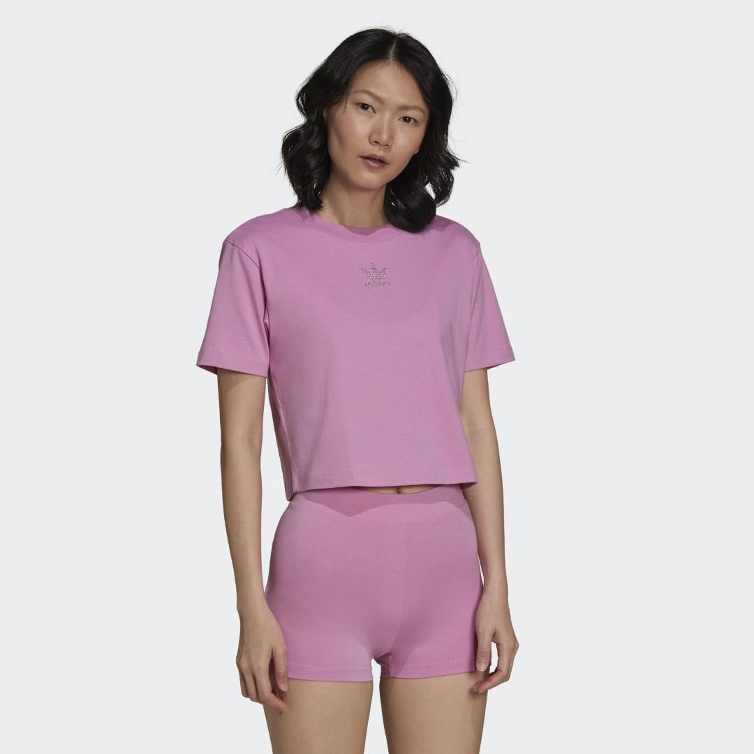 2000 Luxe Cropped Tee Bliss Orchid