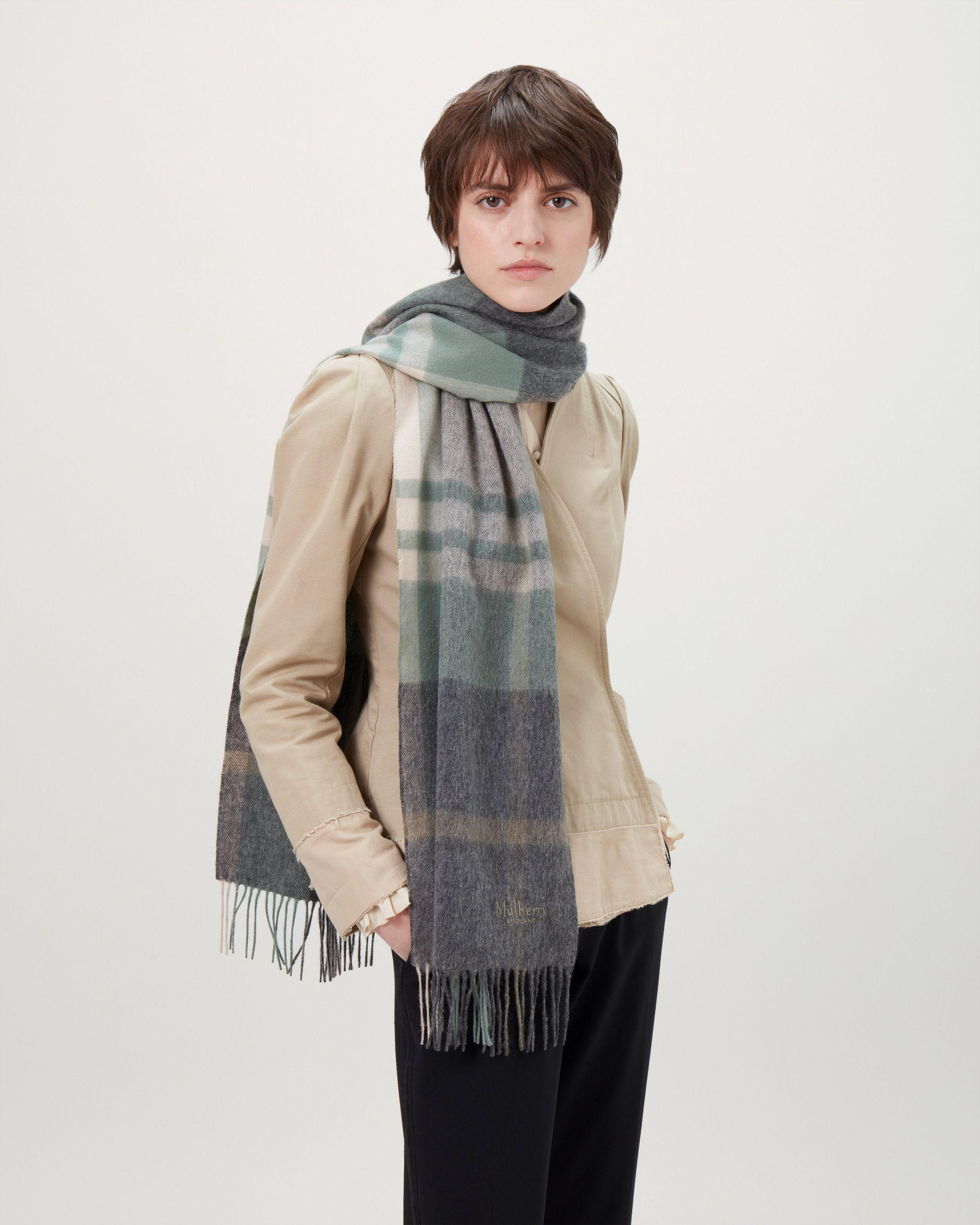 Small Check Lambswool Scarf 2