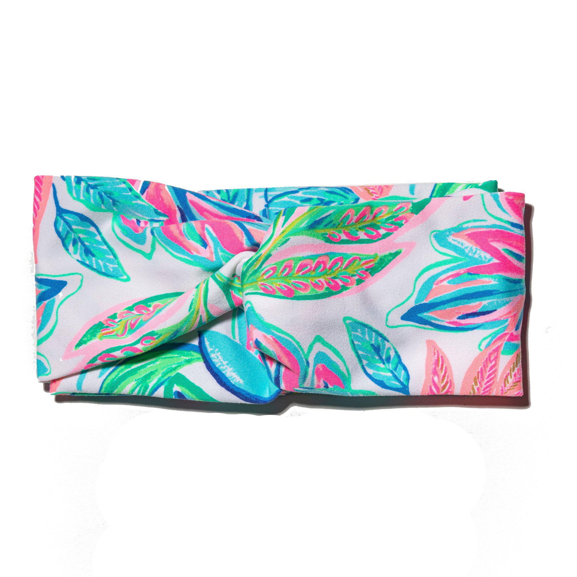 LELE SADOUGHI X LILLY PULITZER TOUCAN DO IT BETTER KNOTTED HEAD WRAP