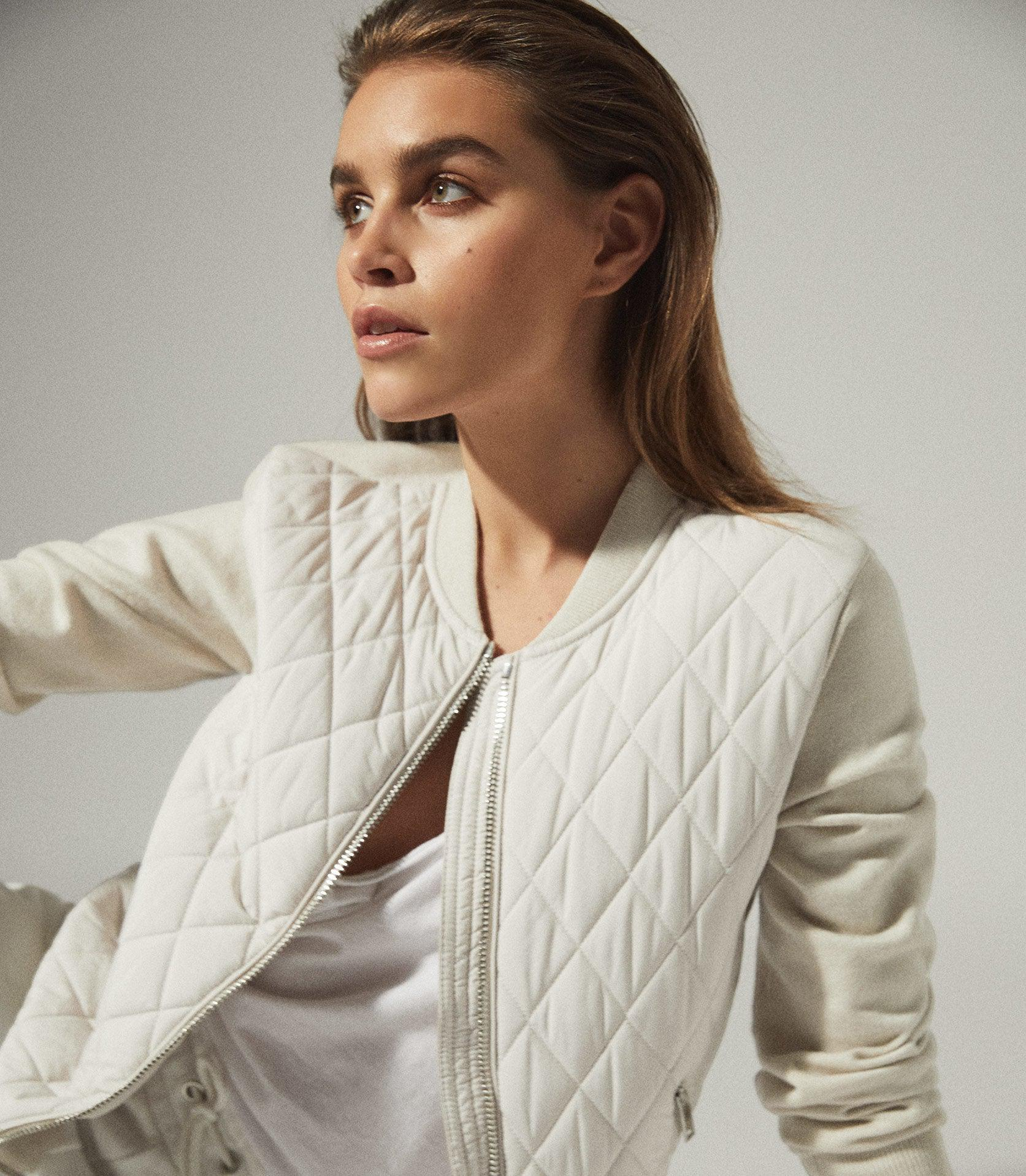 AYLA - HYBRID ZIP THROUGH QUILTED JUMPER 1