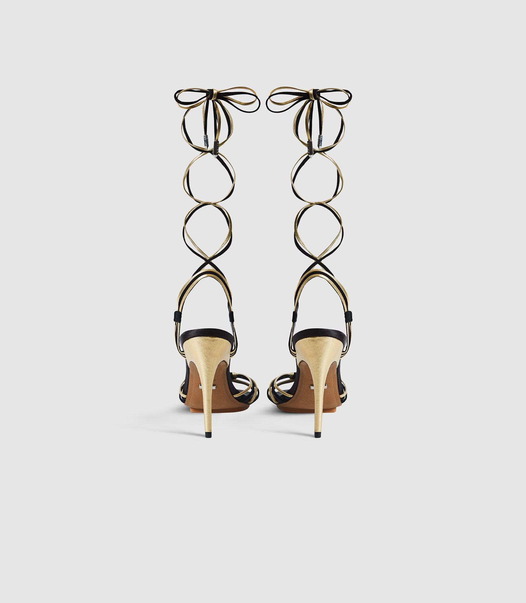 CASSIDY - STRAPPY HIGH HEELED SANDALS 3
