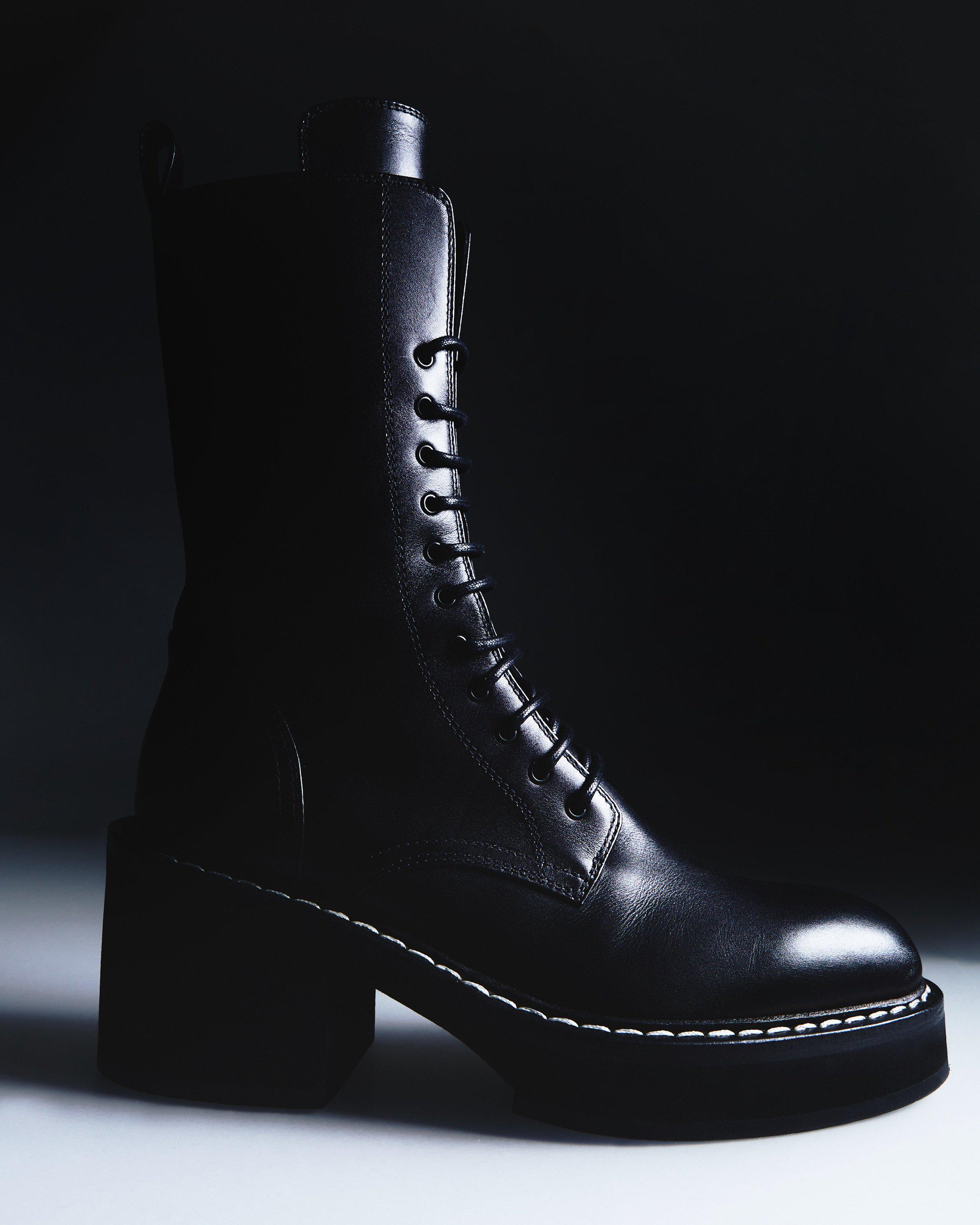 The Cody Boot in Black Leather 4