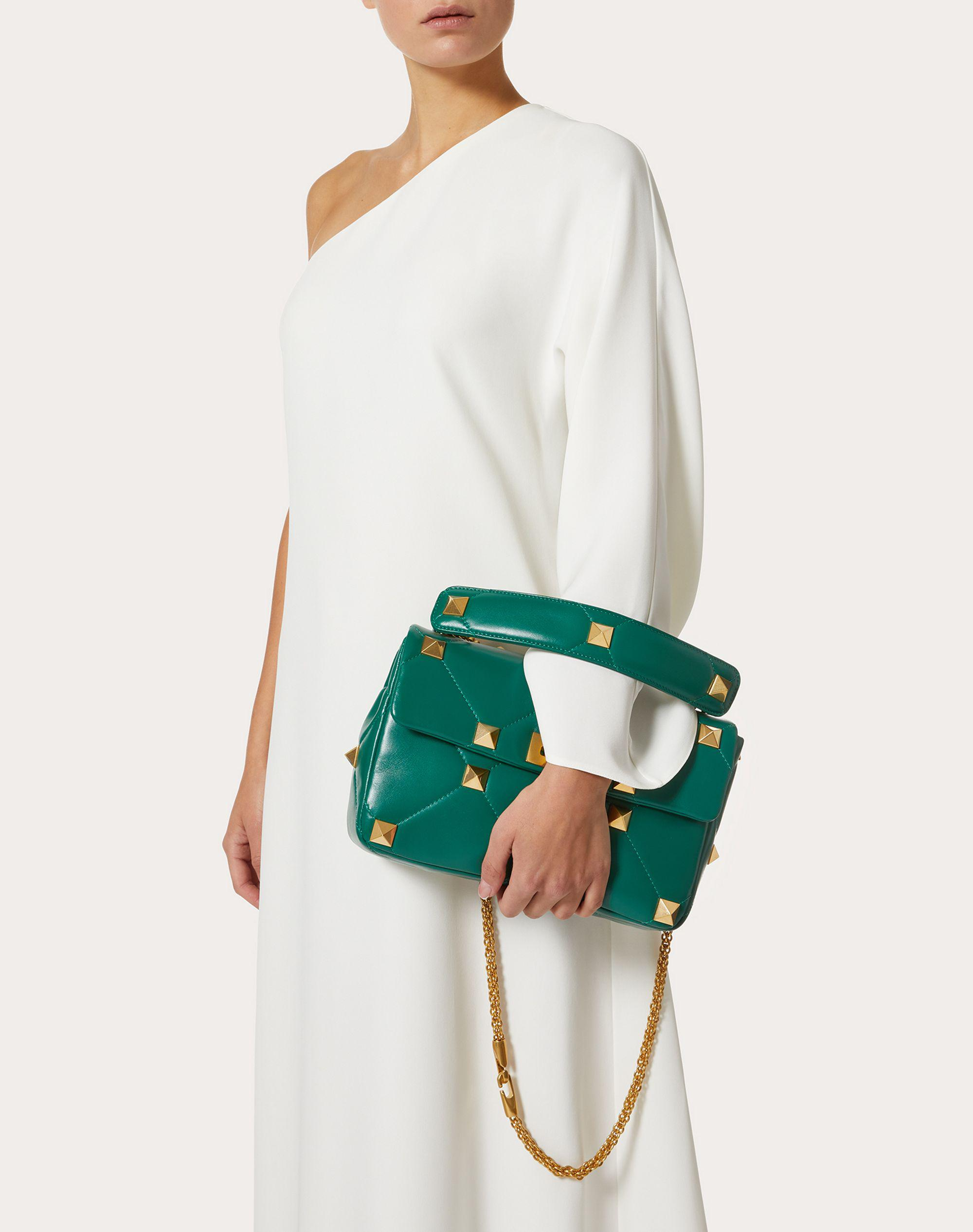 Large Roman Stud The Shoulder Bag in Nappa with Chain 5